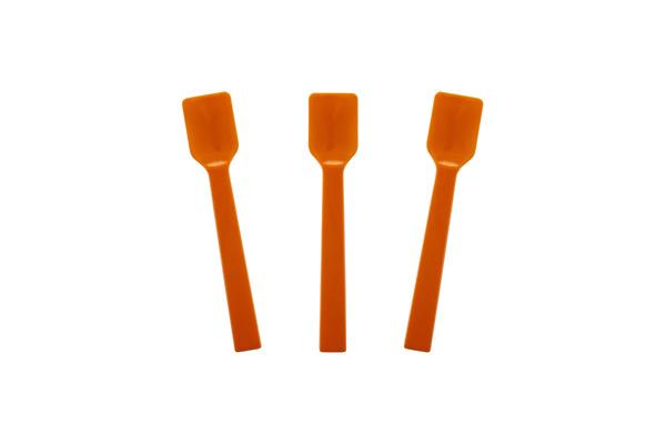 Solid Orange Gelato Spoon