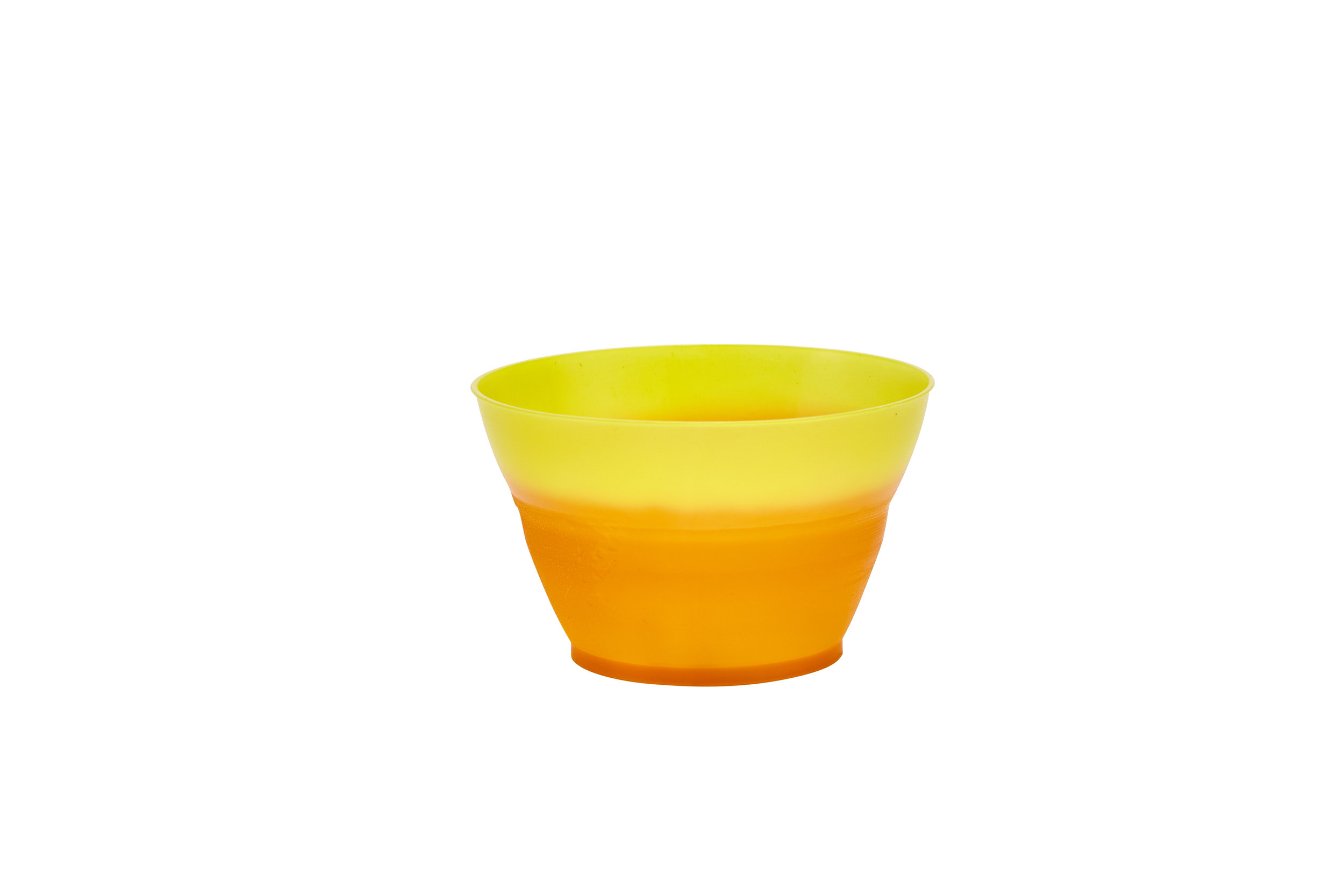 Color Changing Ice Cream Cup Yellow to Orange