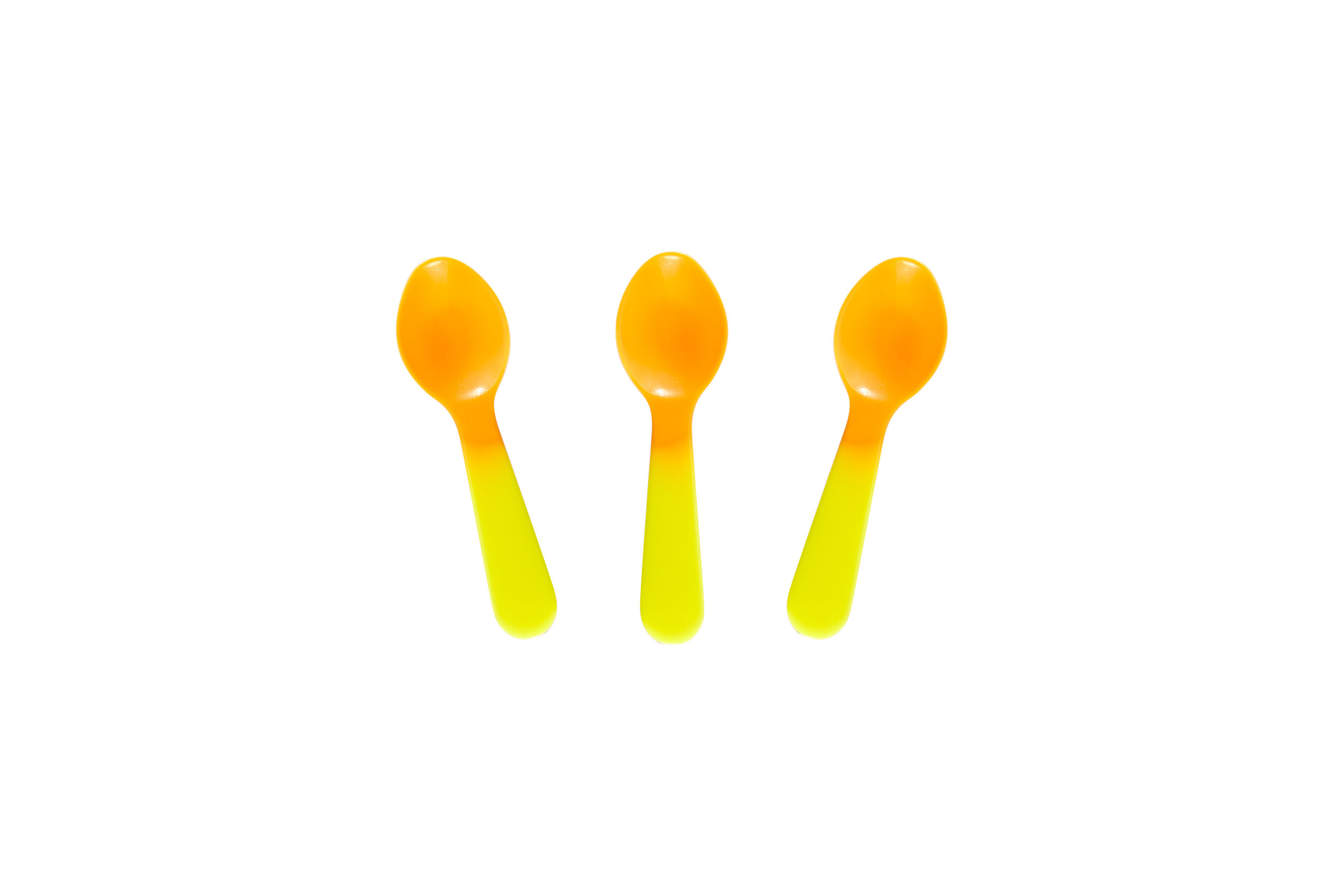 Color Changing Tasting Spoons Yellow to Orange