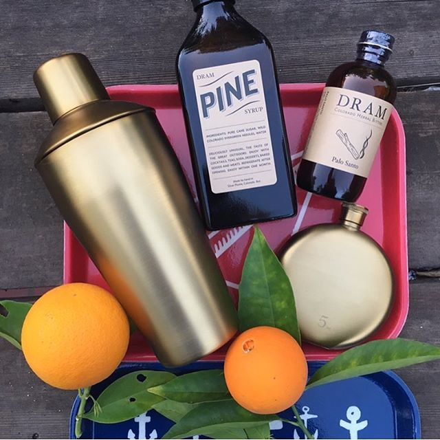 Cheers to long weekends! . . . . #holiday #cocktails #shaker #goldshaker #flask #goldflask #gifts #uniquegifts #ojai #cocktailshaker #ojaivibes #bitters #palosanto #shoplocal #hostgift #servingtray