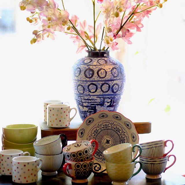 Hot cocoa is calling... . . . . . #ojai #gifts #teacups #ceramics #mugs #uniquegifts #tea #teatime #cuppa #cutemugs #polkadots #dishware #homegifts #giftsforthehome #giftideas