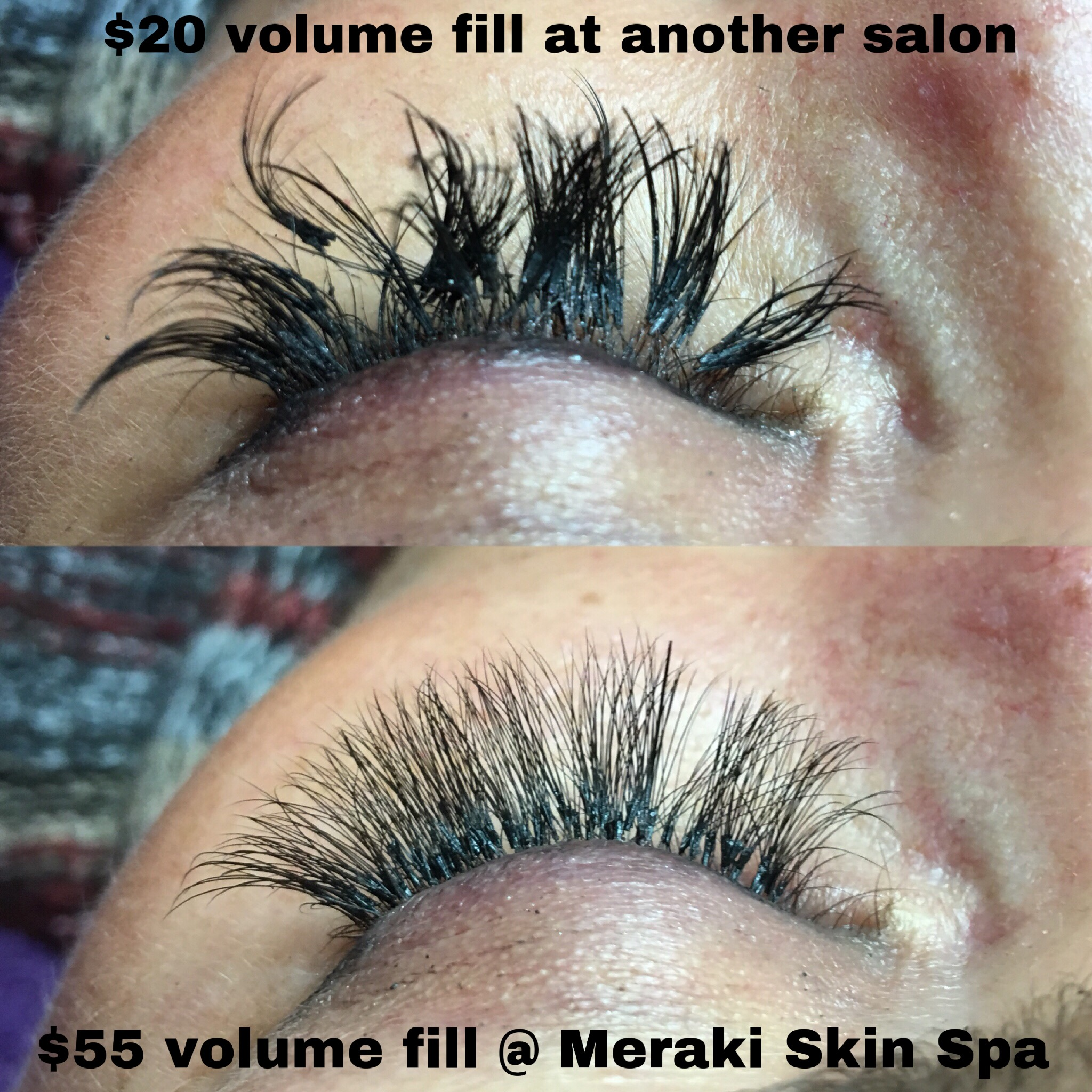 alt text botched, bad volume lash extensions meridian Idaho