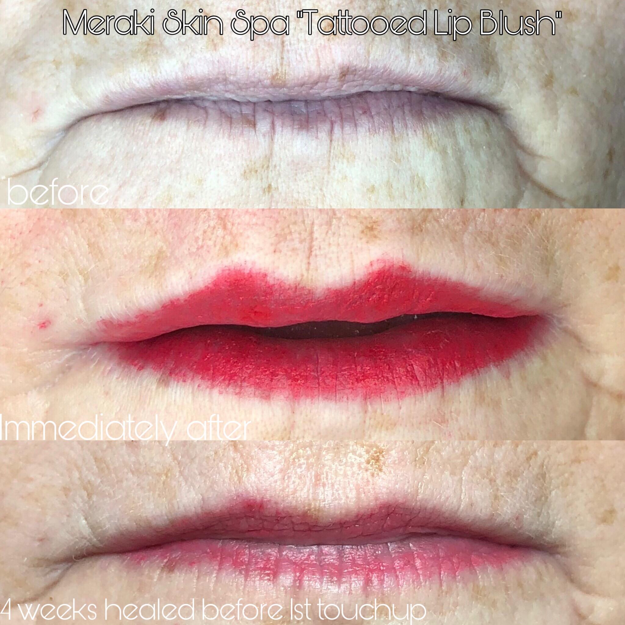 lip tattooing progression pic permanent makeup meridian Idaho alt text