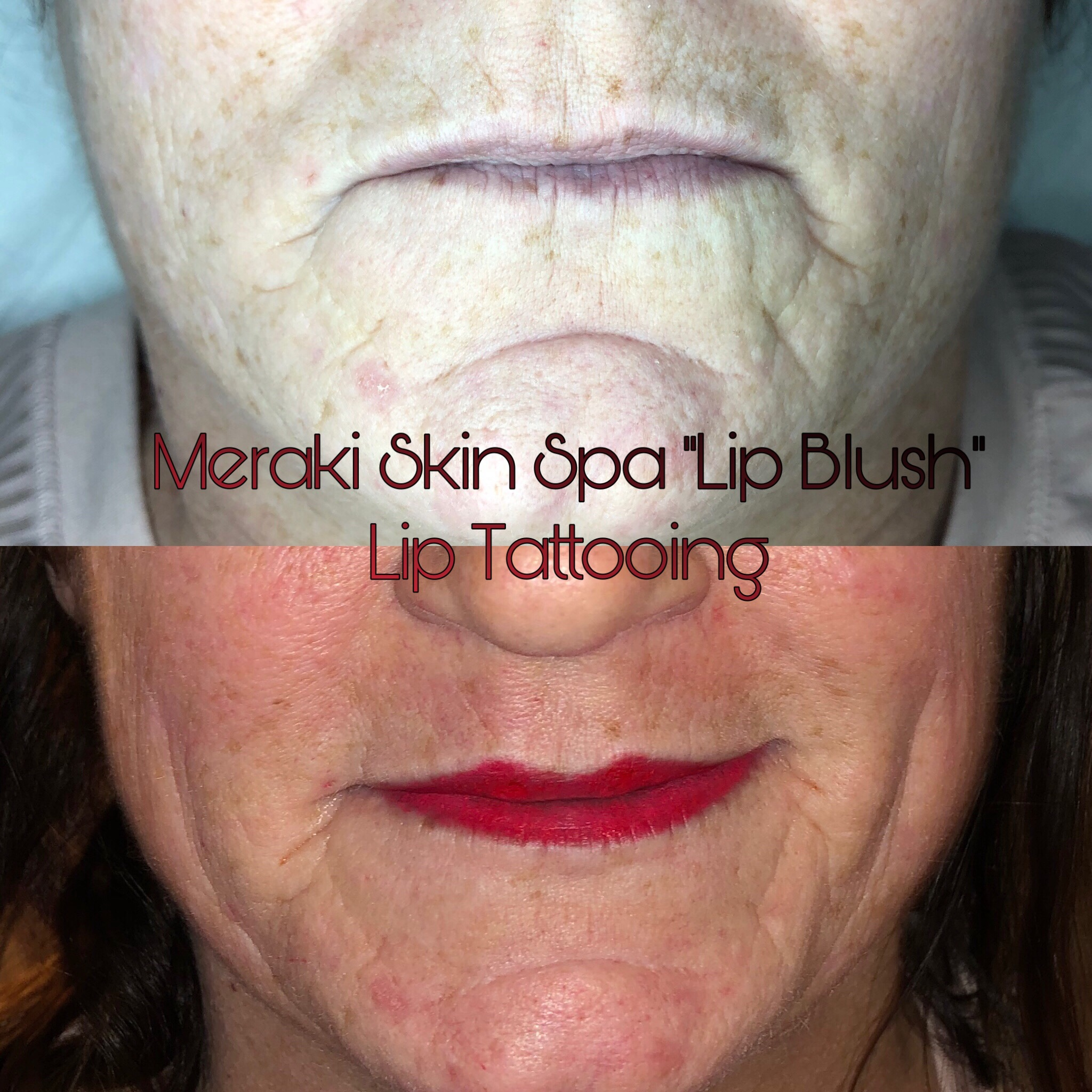 alt text tattooed lip lip blush permanent makeup meridian idaho.
