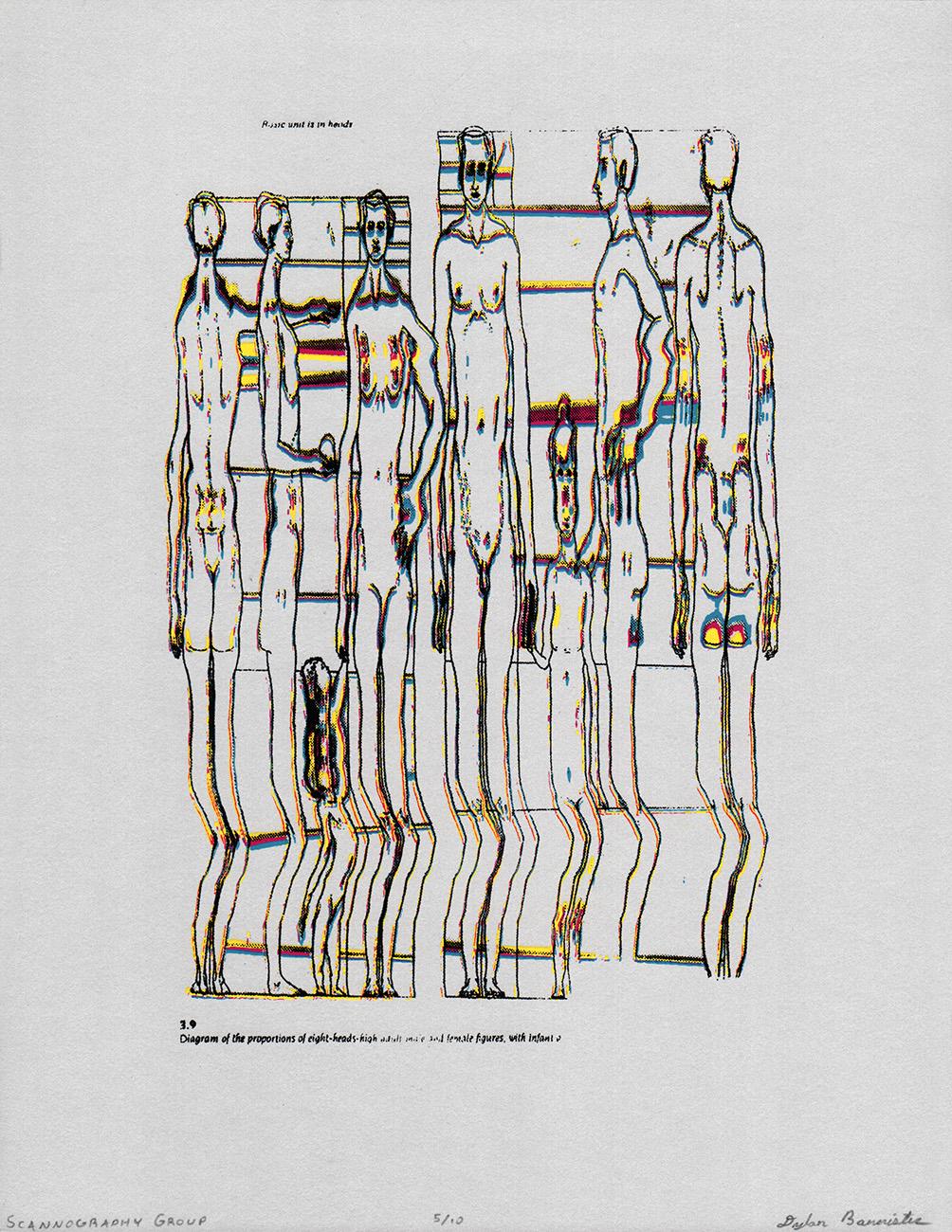 "<i>Scannography Bones</i><br>Silkscreen Print<br>10"" x 13""<br>2015"
