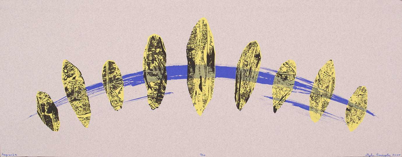 "<i>Ragnaröks</i><br>Silkscreen Print<br>9.5"" x 24""<br>2015"