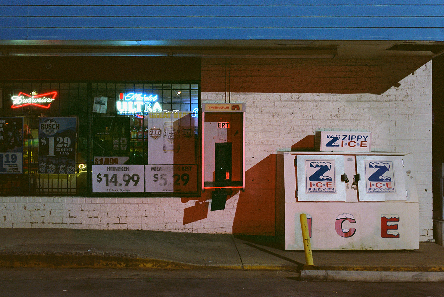 One Stop Express with Zippy Ice  Rock Hill, SC 35mm film 2019