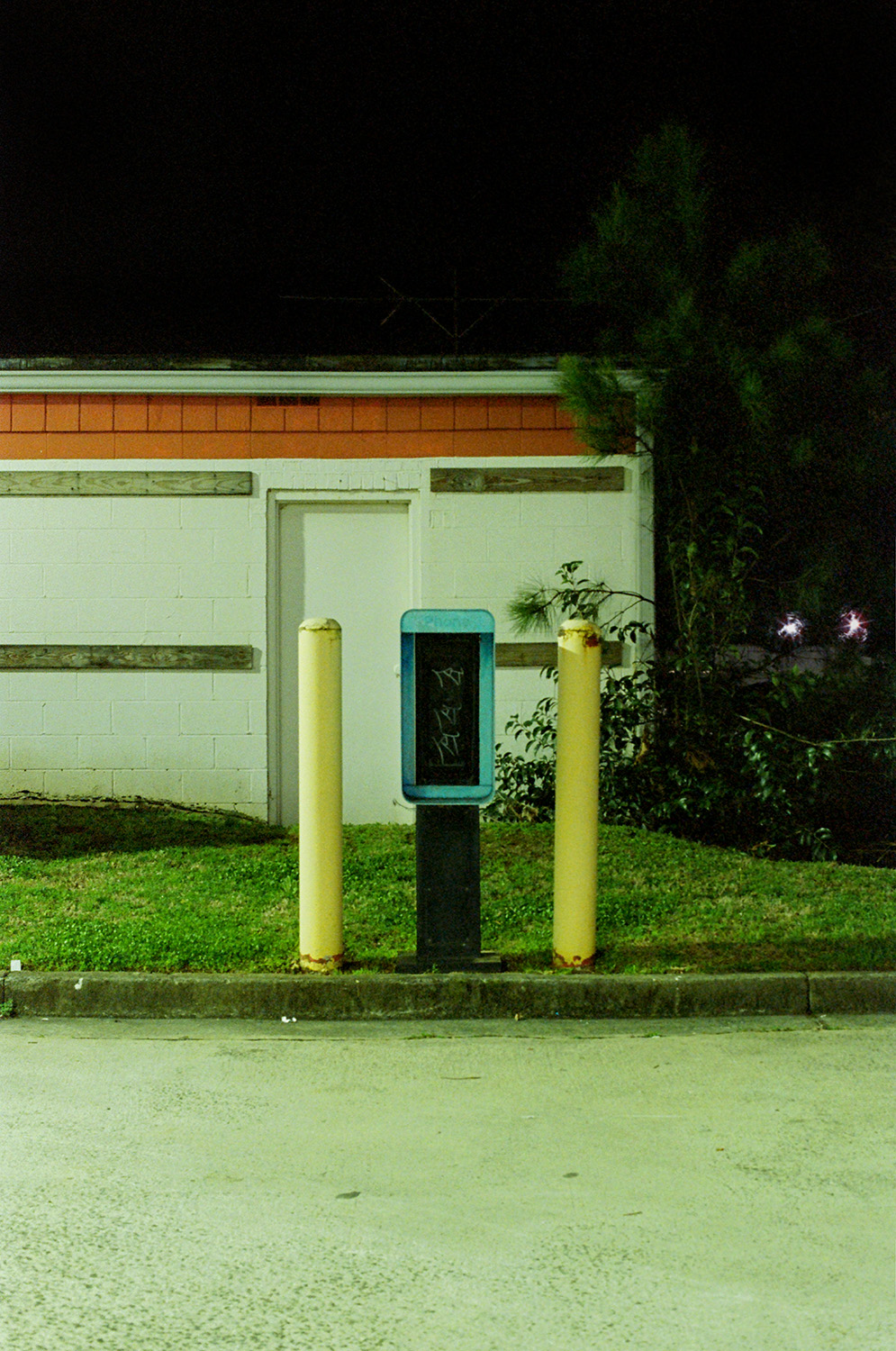7-Eleven with Yellow Bollards (R.I.P.)  Rock Hill, SC 35mm Film 2019