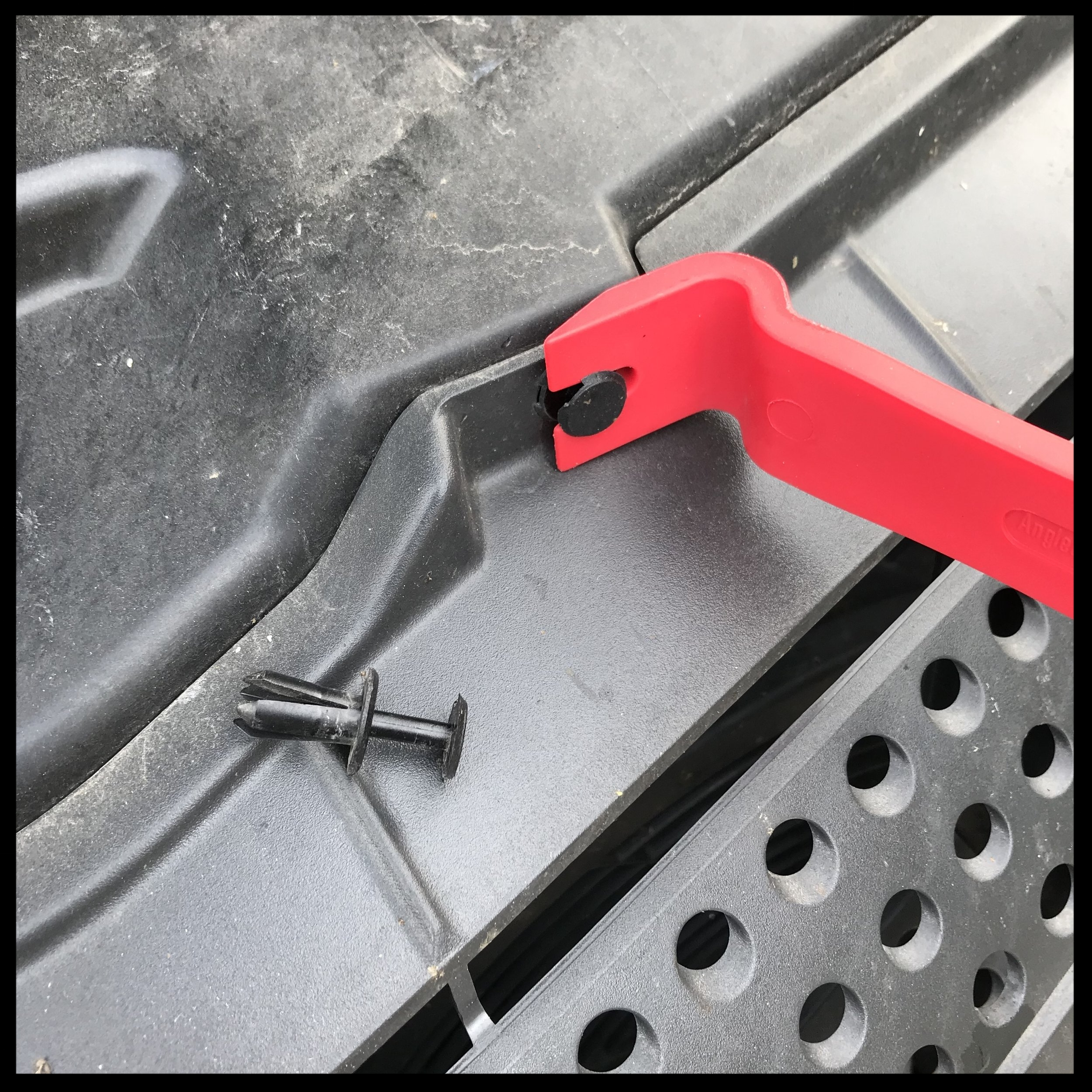 removing the grill and the plastic bumper cover is basically just pulling out a bunch of plastic clips.