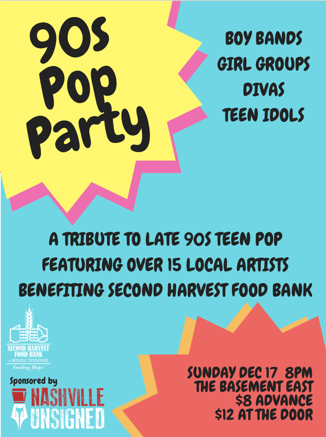 90s Pop Party Show Poster (Iteration 1)