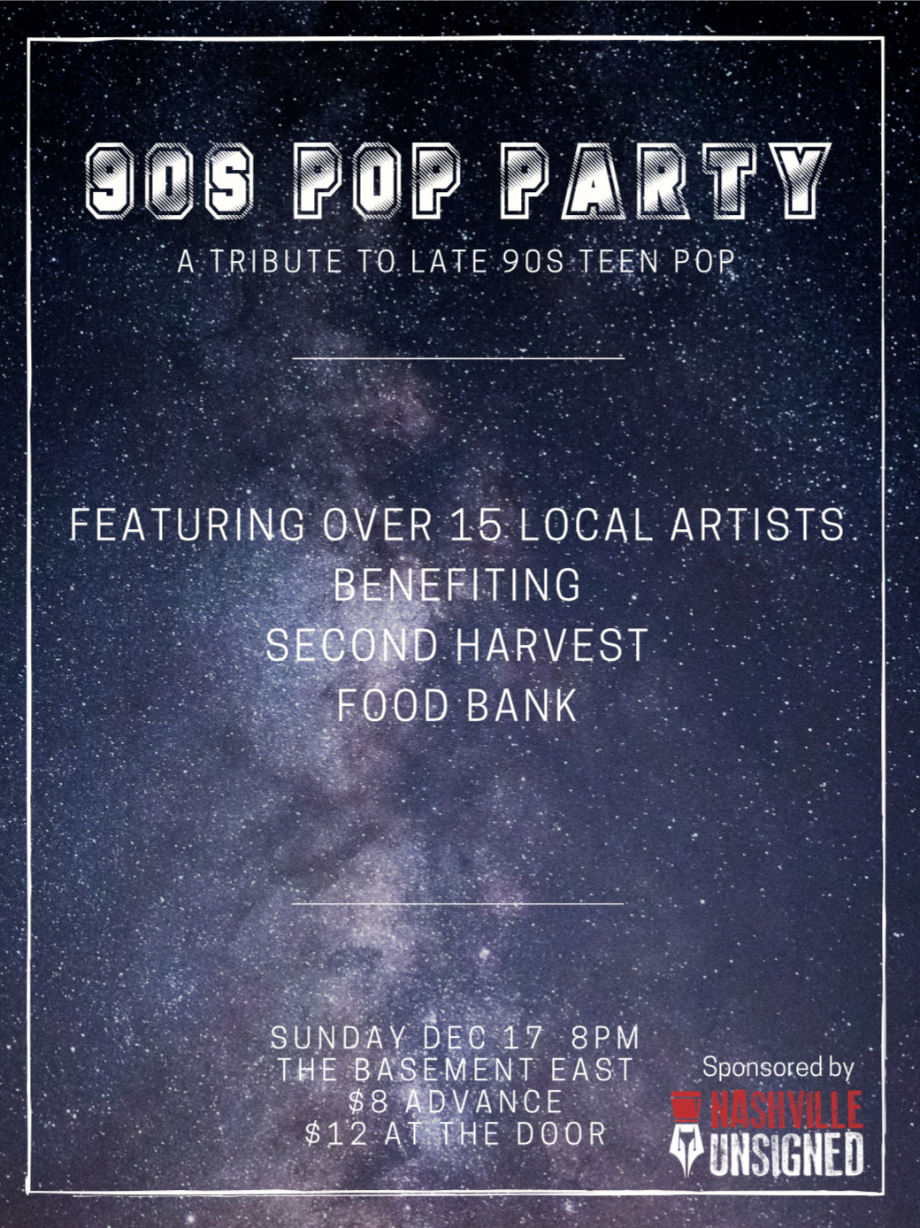 90s Pop Party Show Poster (Iteration 2)