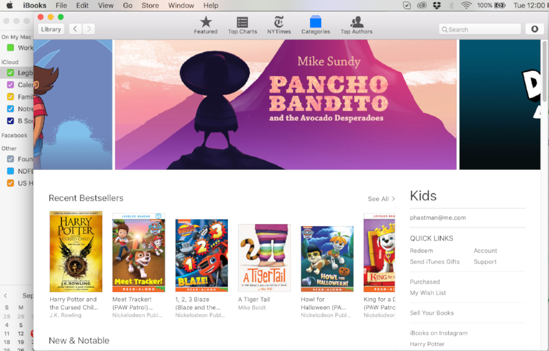 Featured banner on the front page of the iBooks Kids store.