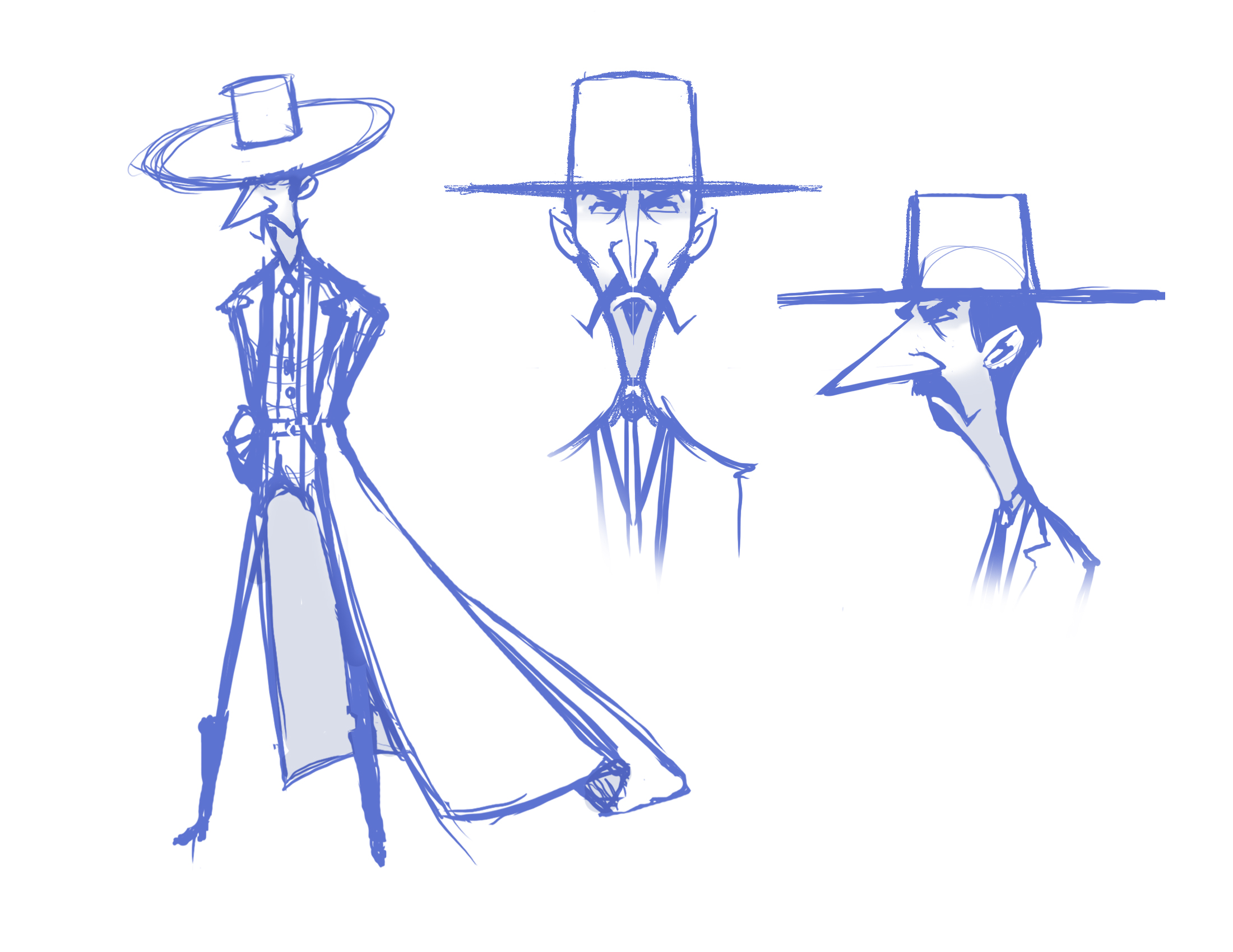 This loose sketch is getting closer to the final design of El Pico