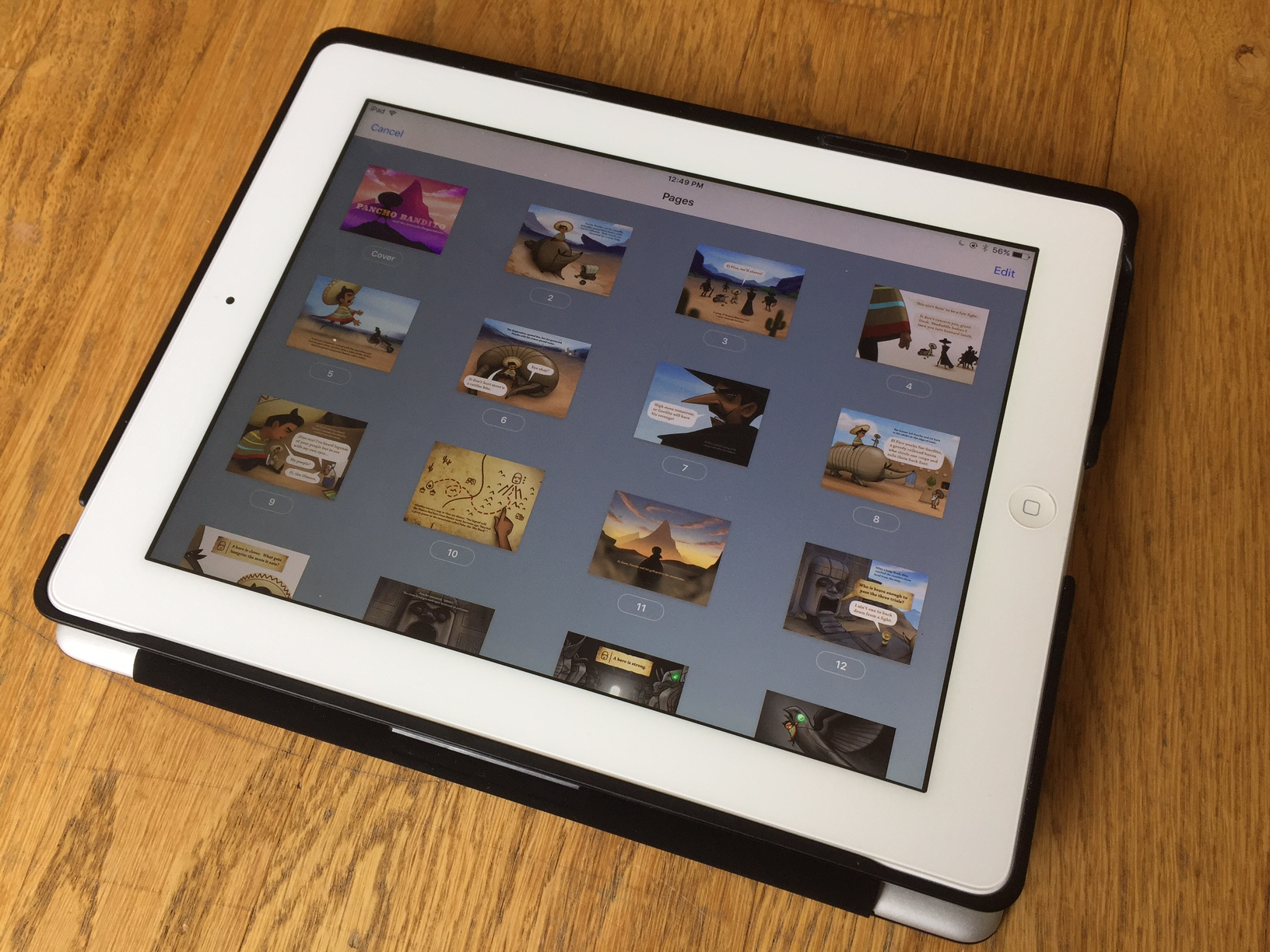 We used the app 'Book Creator' to format the iBooks version of Pancho 2.
