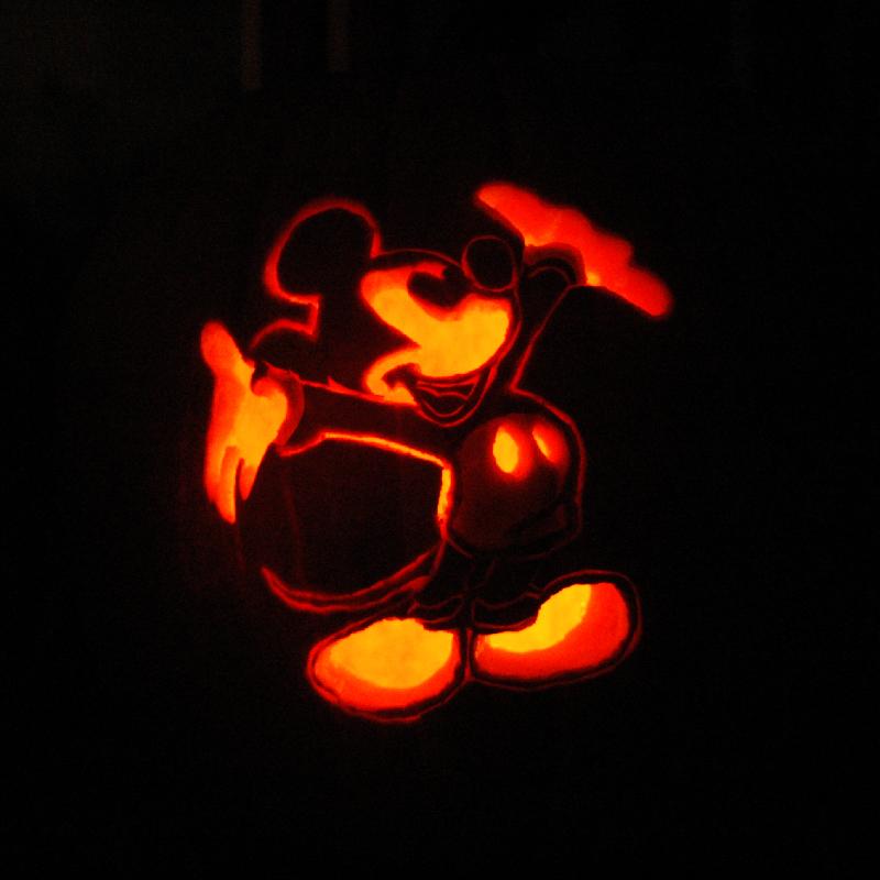 Pumpkin Carving Mickey