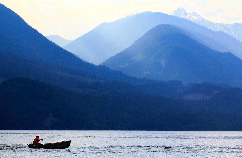 Slocan Lake in Rosebery, BC