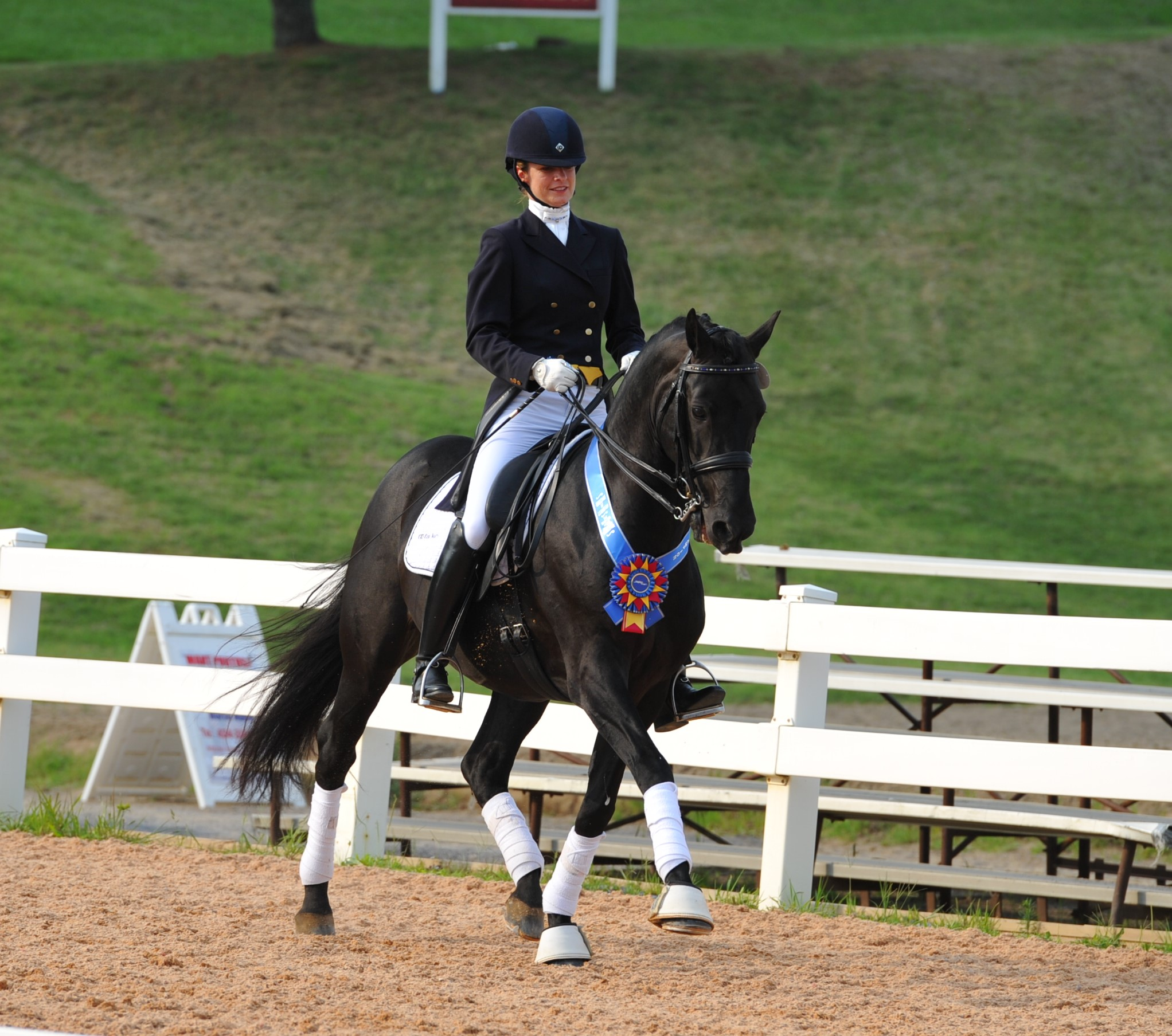 Lucy and her stallion GKB Coal Magic winning the Sporting Horse Amateur Challenge in Lexington, Virginia