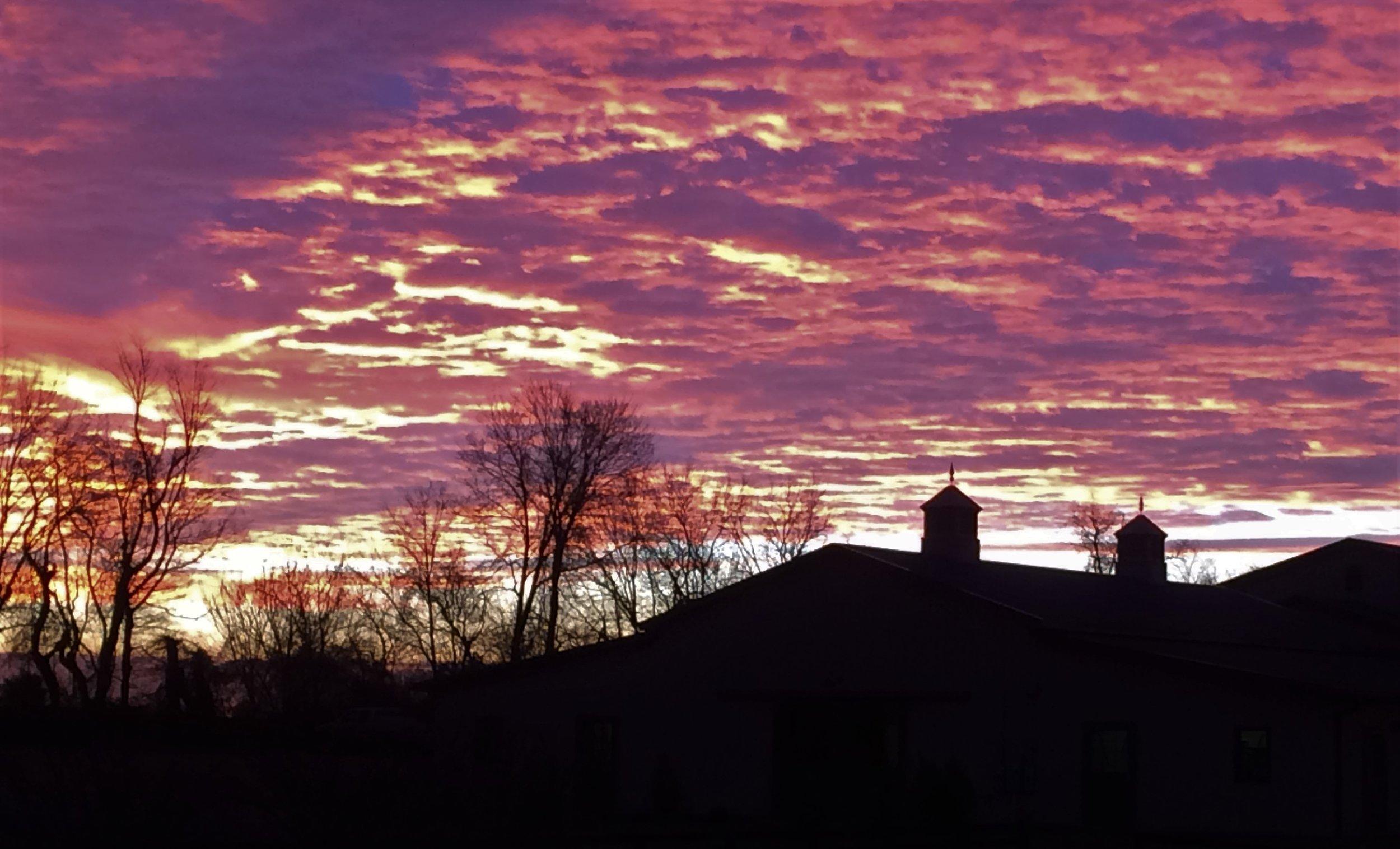 Sunrise at Locks Edge