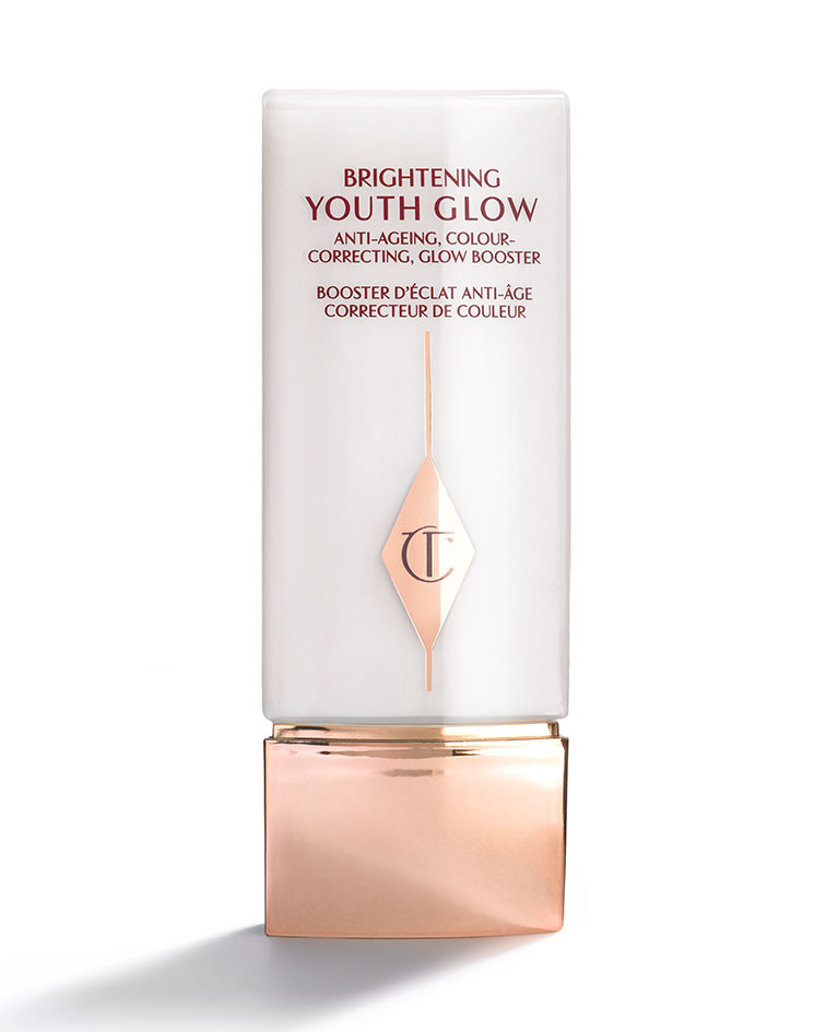 Brightening Youth Glow Primer - Charlotte's products are exceeding expectations left and right. This primer is no exception. I mix it with my foundation for an airbrushed looking skin. Sometimes, when I can't be bothered, I will put this primer on my face on its own, add some mascara and balm on my cheeks and lips and I'm ready to go.
