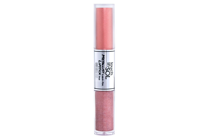 Touch In Sol - Metallist Liquid Foil Lipstick DuoNot only is this amazing formula long lasting but it also gives you the option to decide if you want a subtle metal foil on your lips or a glitter explosion.