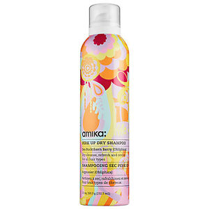 ThePop Princess - Perk Up Dry Shampoo from amika is as fun as its packaging. Sea buckthorn berry keeps hair nourished and fresh while rice starches absorb any greasiness at the scalp.The vitamin and omega content in the sea buckhorn berry also adds a natural lift at the root, creating a plump kind of volume.