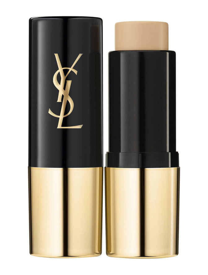 The Stickler - Yves Saint Laurent is probably one of the more decadent makeup brands out there and also one of the most rock and roll. There's something sexy, edgy, and yet low maintenance about the YSL girl. Call it French girl magic.The brand's All Hours Stick Foundation is no exception to these rules. The small tube houses a creamy formula that gives matte coverage for our oily friends. Add more product where you need more coverage or go all over for that perfect face. Whether you're rock and roll or uptown chic, this packaging and formulation is universal.Tip: use a slightly darker shade for easy contouring.