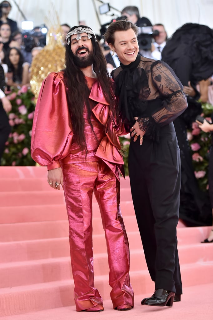 The Gucci Creative Director was accompanied by one of his muses and destroyer of toxic masculinity, Harry Styles.