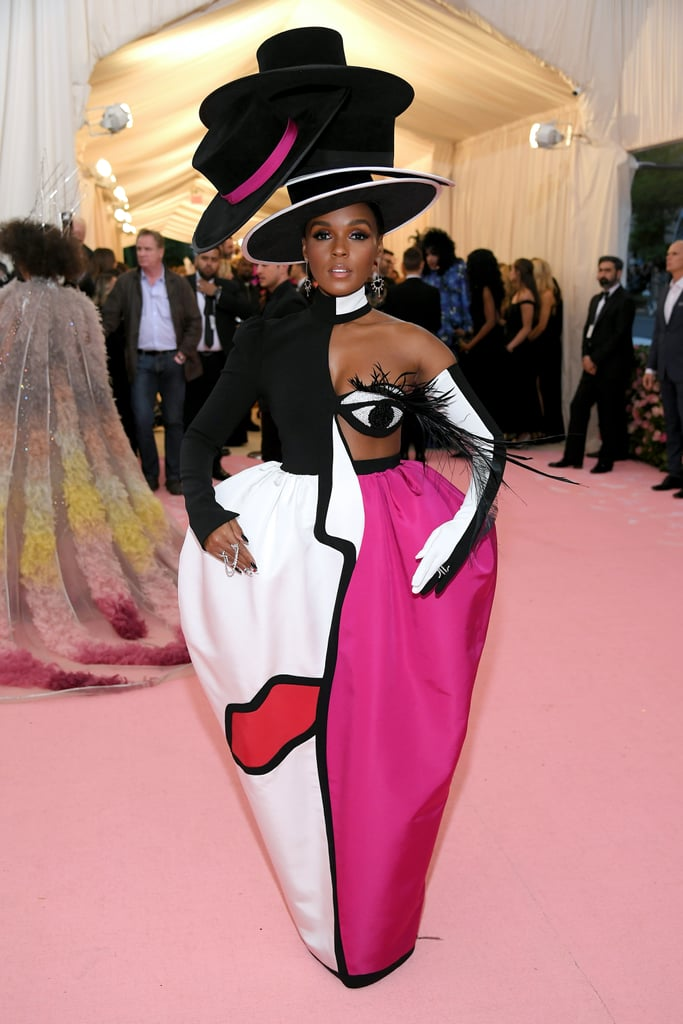 Never one to shy away from taking fashion risks, Janelle looked like a piece of art.