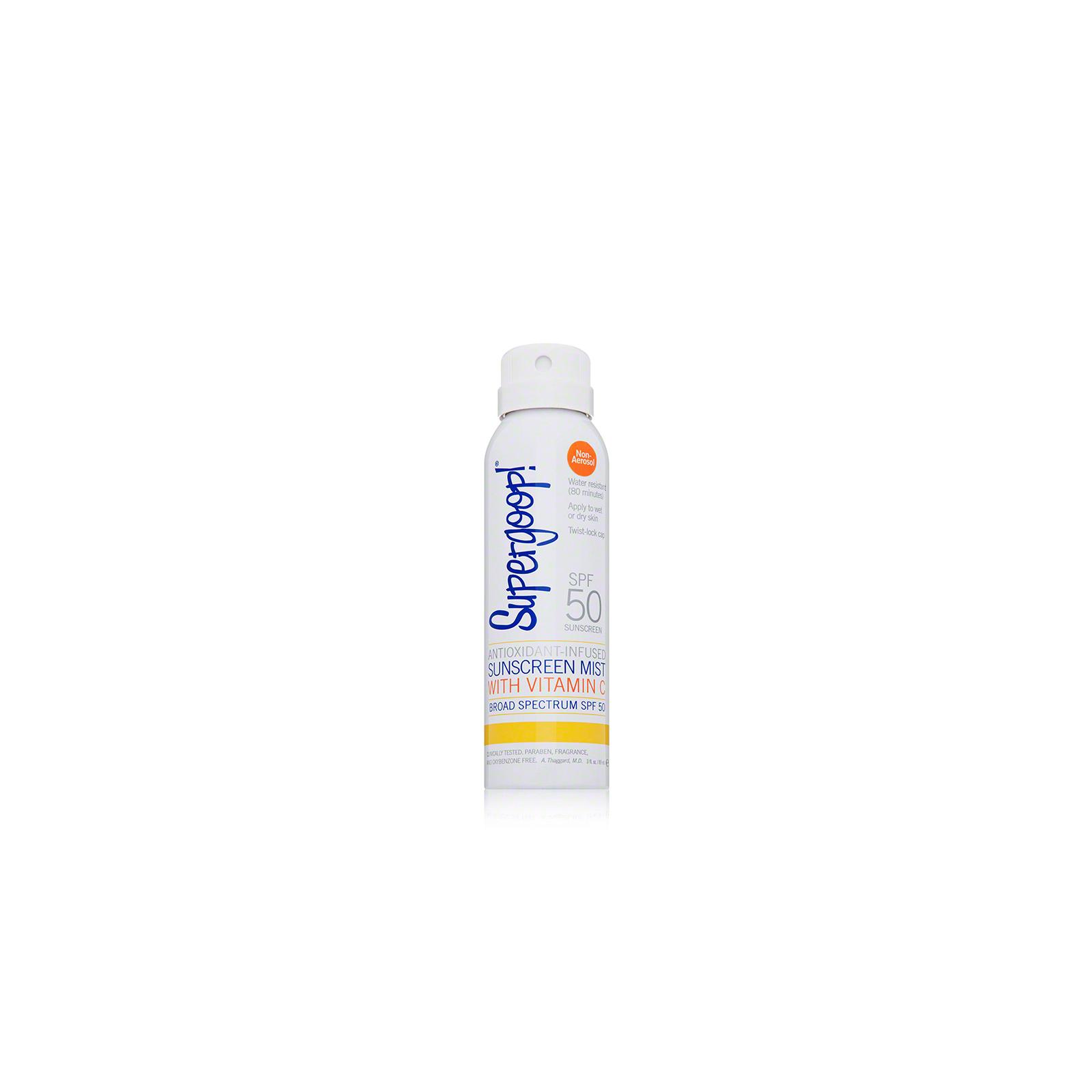 Supergoop Antioxidant-Infused Sunscreen Mist with Vitamin C