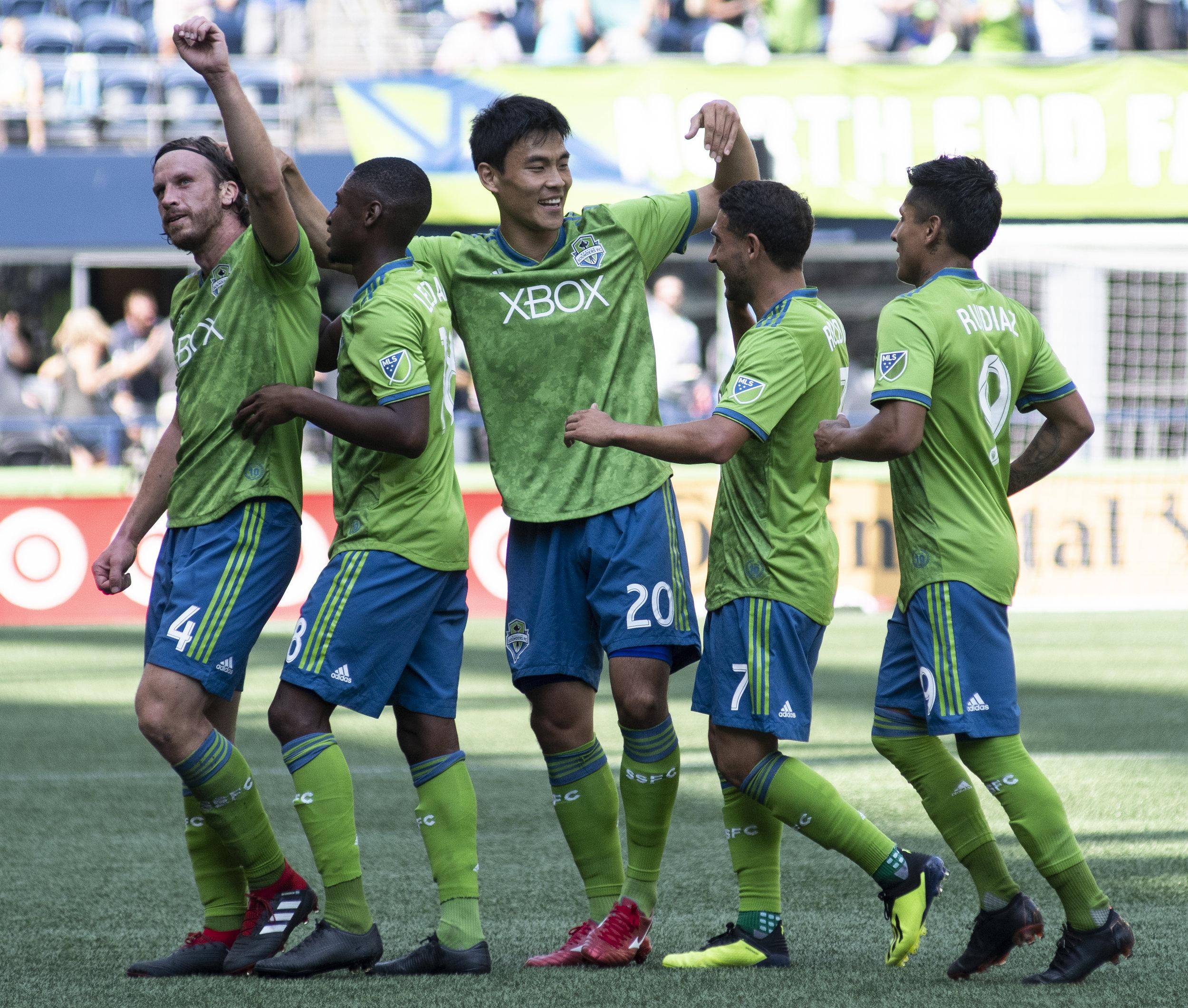Seattle Sounders, New York City FC, Team Celebration