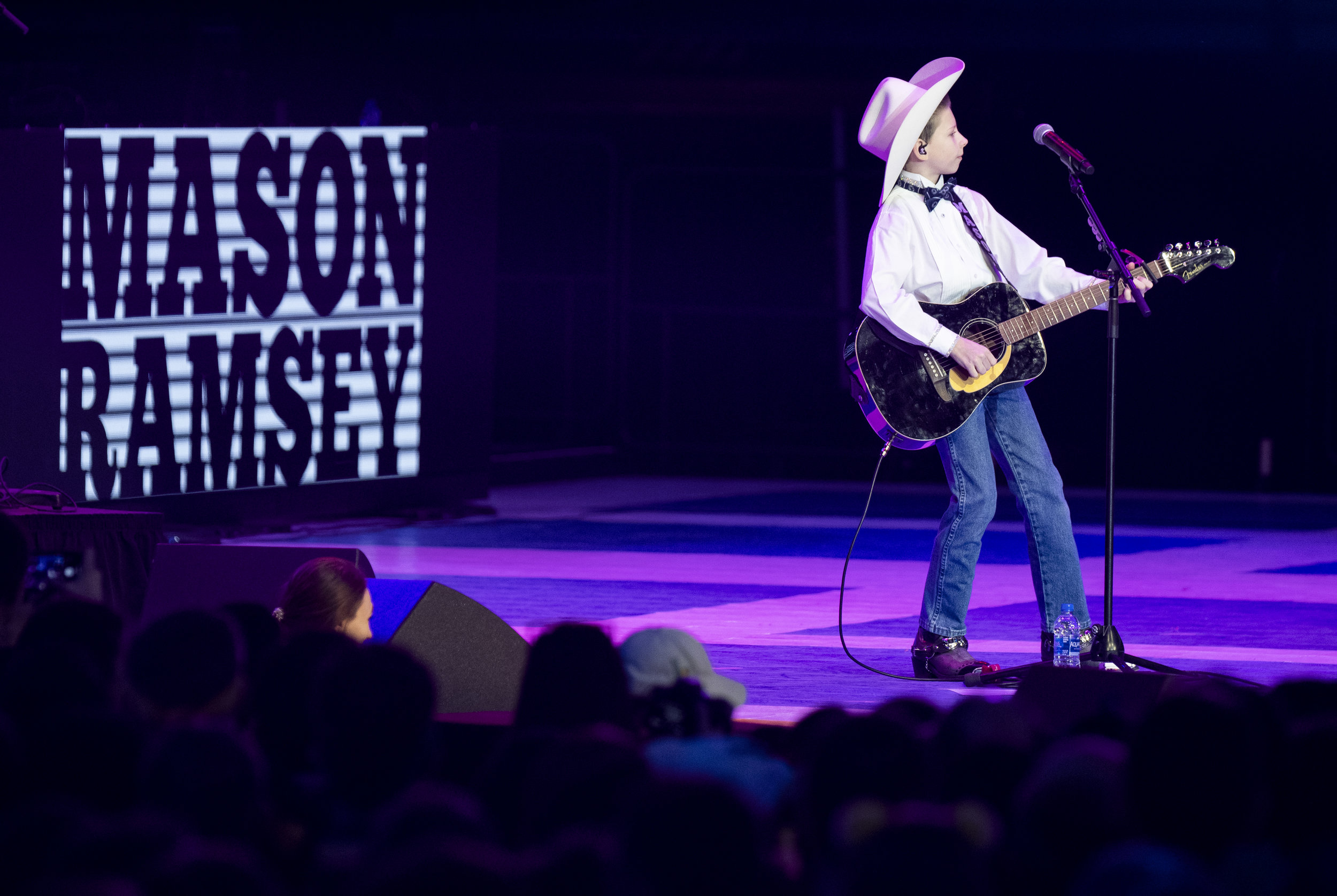Mason Ramsey performs during THON at the Bryce Jordan Center, Saturday, Feb. 16, 2019. | Photo by: Noah Riffe