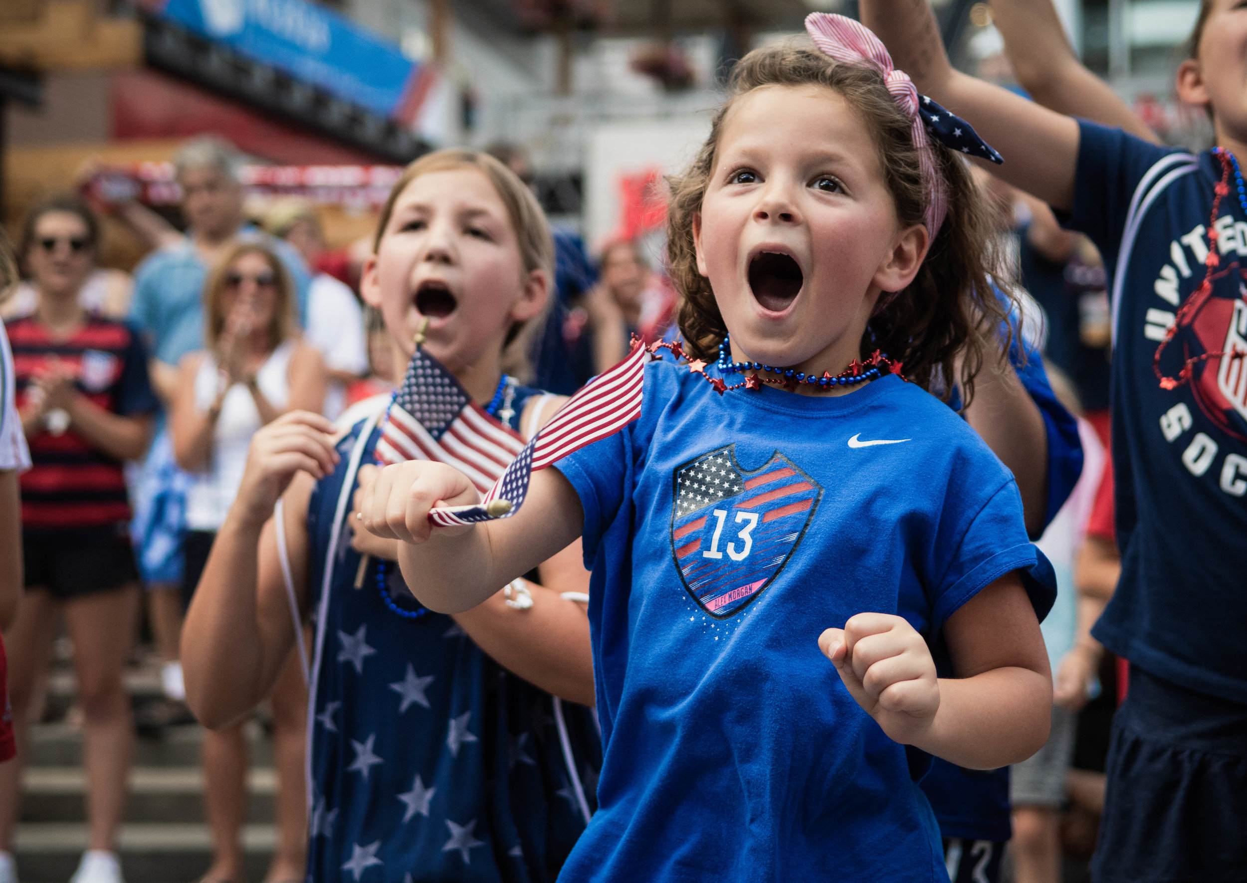 Sporting Kansas City hosts a Women's World Cup watch parties on June 20, 2019, at Kansas City Live! The U.S. Women's National team finished 1st in Group F with 9 points, 3 wins, +18 goal differential, and will face Spain in the round of 16. | Photo by: Noah Riffe