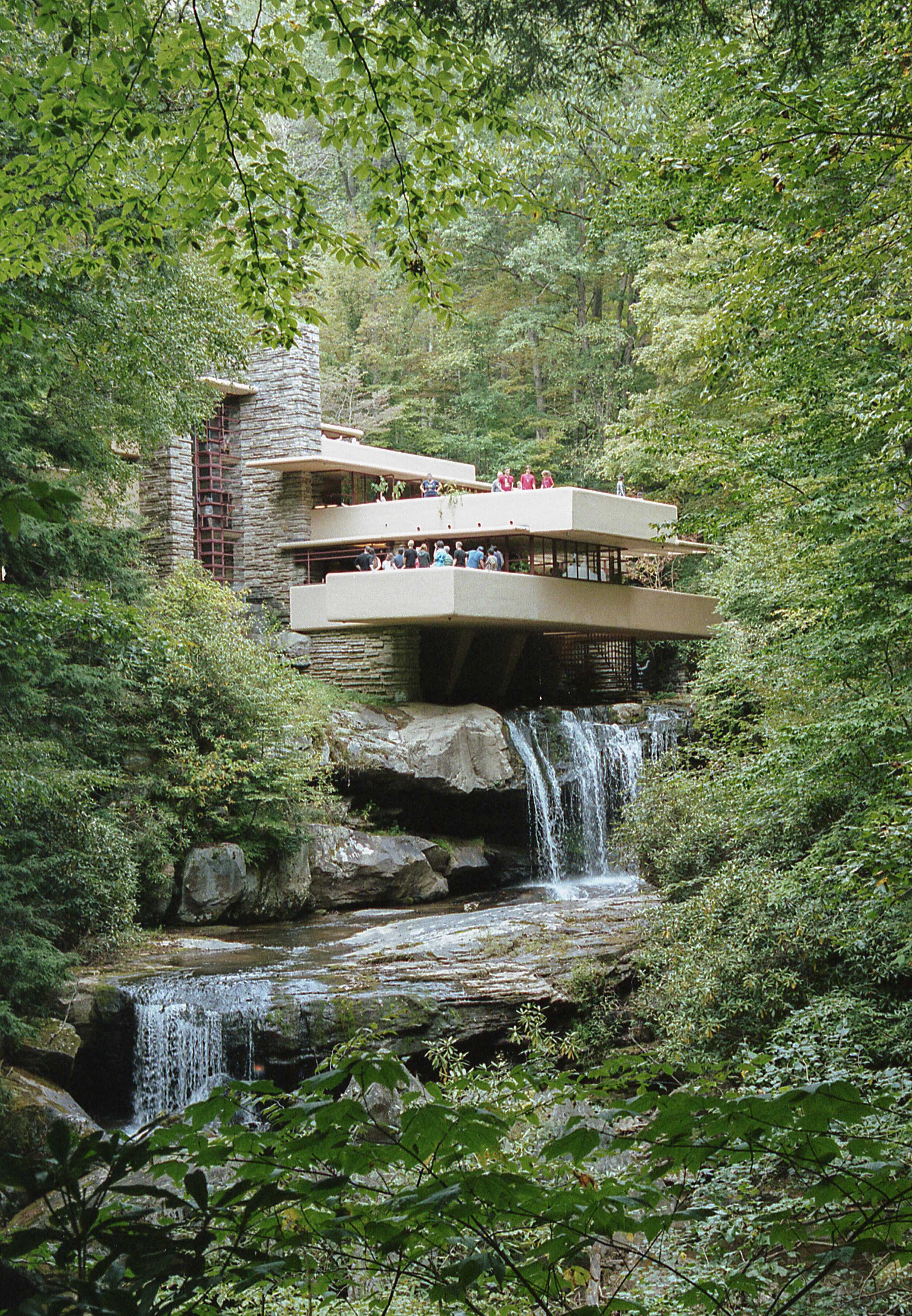 Frank Lloyd Wright's Falling Water home on Sept. 8, 2019 in Mill Run, Pa. | Photo by: Noah Riffe | Shot on: Nikon F100 with Portra 400