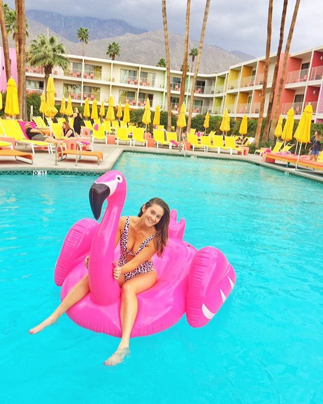Oh hey Friday!! Floating away our worries and stress as we fbf to a fabulous trip to Palm Springs. ✌️🌴😎