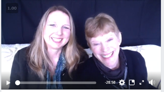 Mary Anne em Radmacher & me chatting about our words of the year