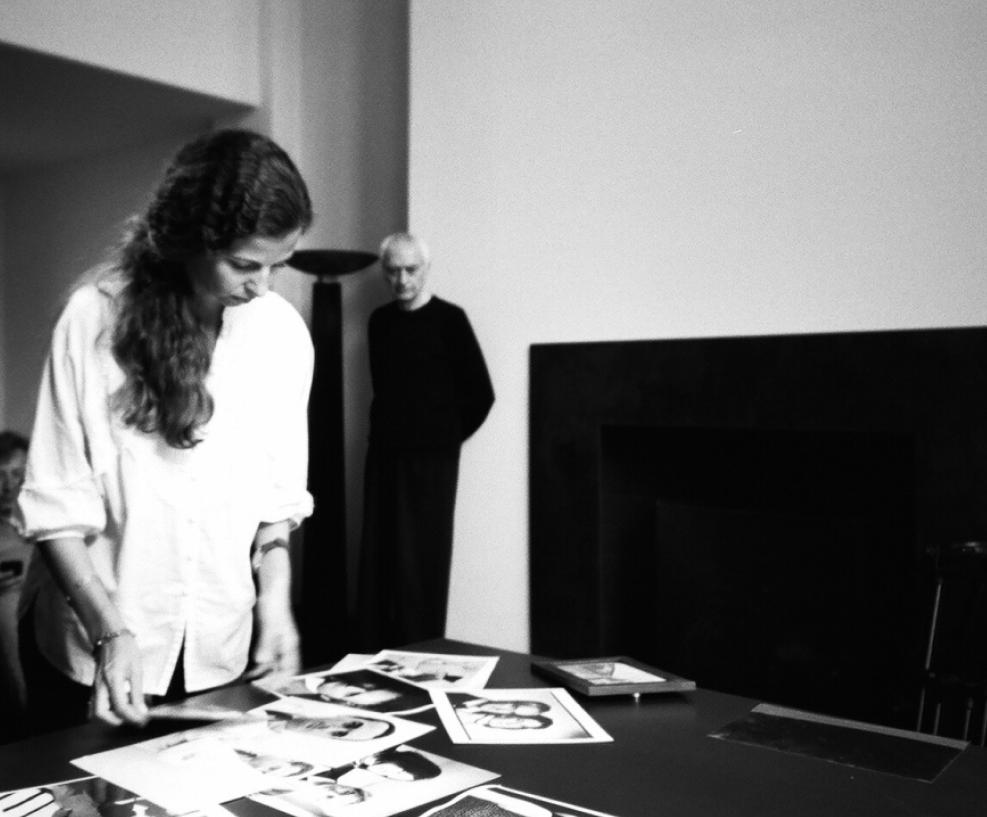 On set with Massimo Vignelli, Beginnings