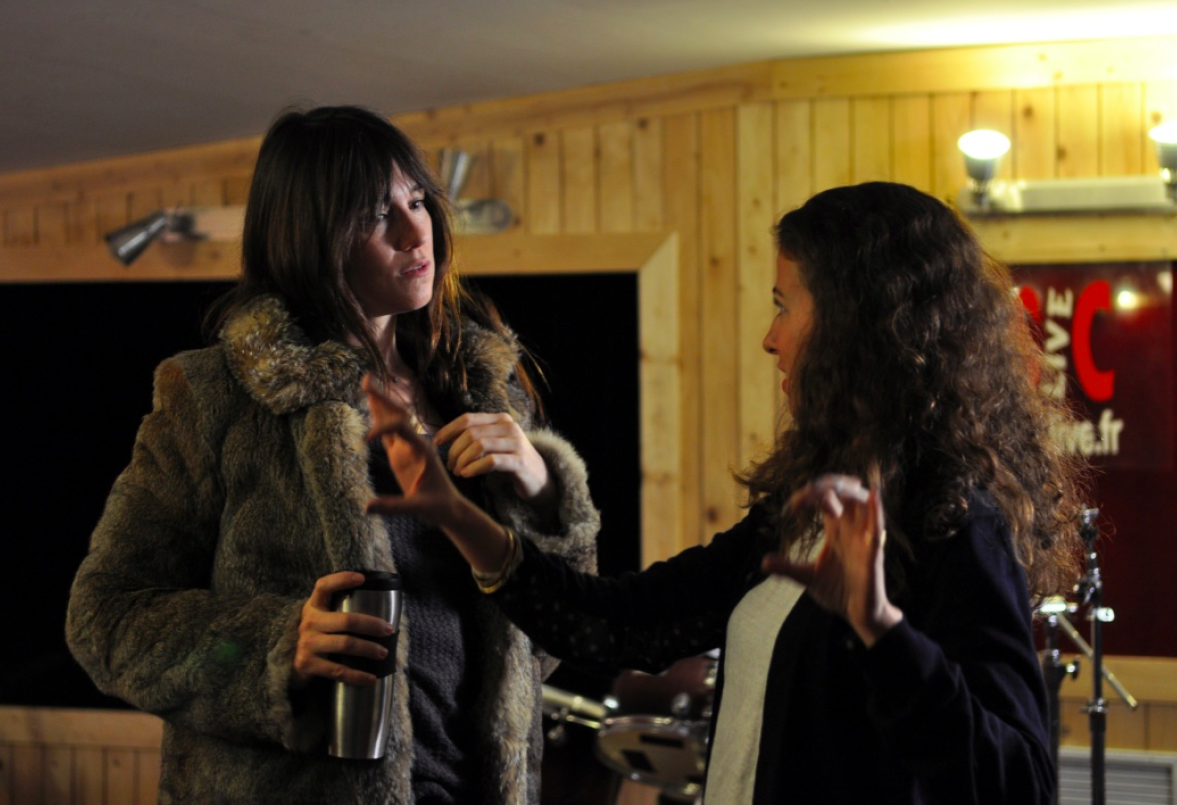 On set with Charlotte Gainsbourg, Beginnings