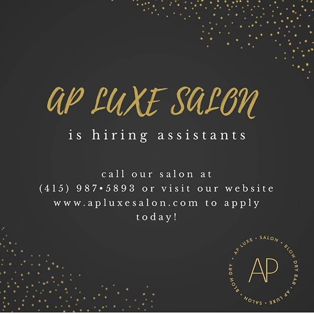 Apply to be apart of the luxe squad! Link in the bio! Start your career today!🖤#apluxesalon #apluxegirl #salon #millvalley