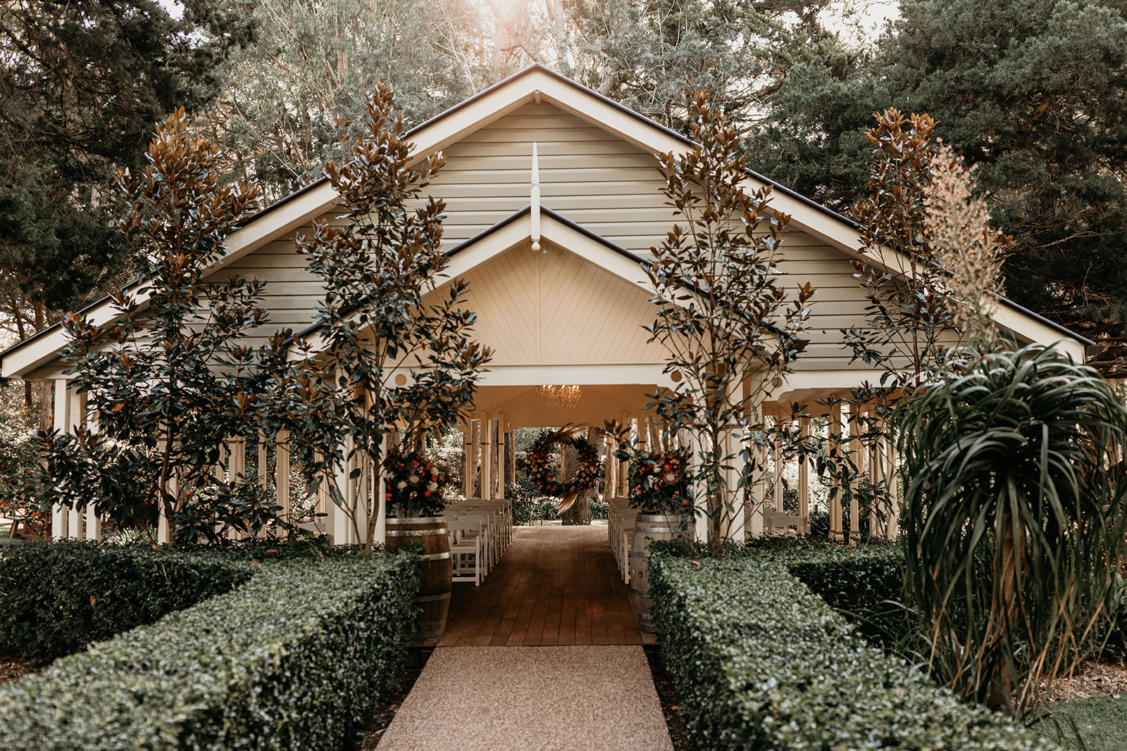 Ceremony location, photographed by Feather and Finch photography at Gabbinbar Homestead.