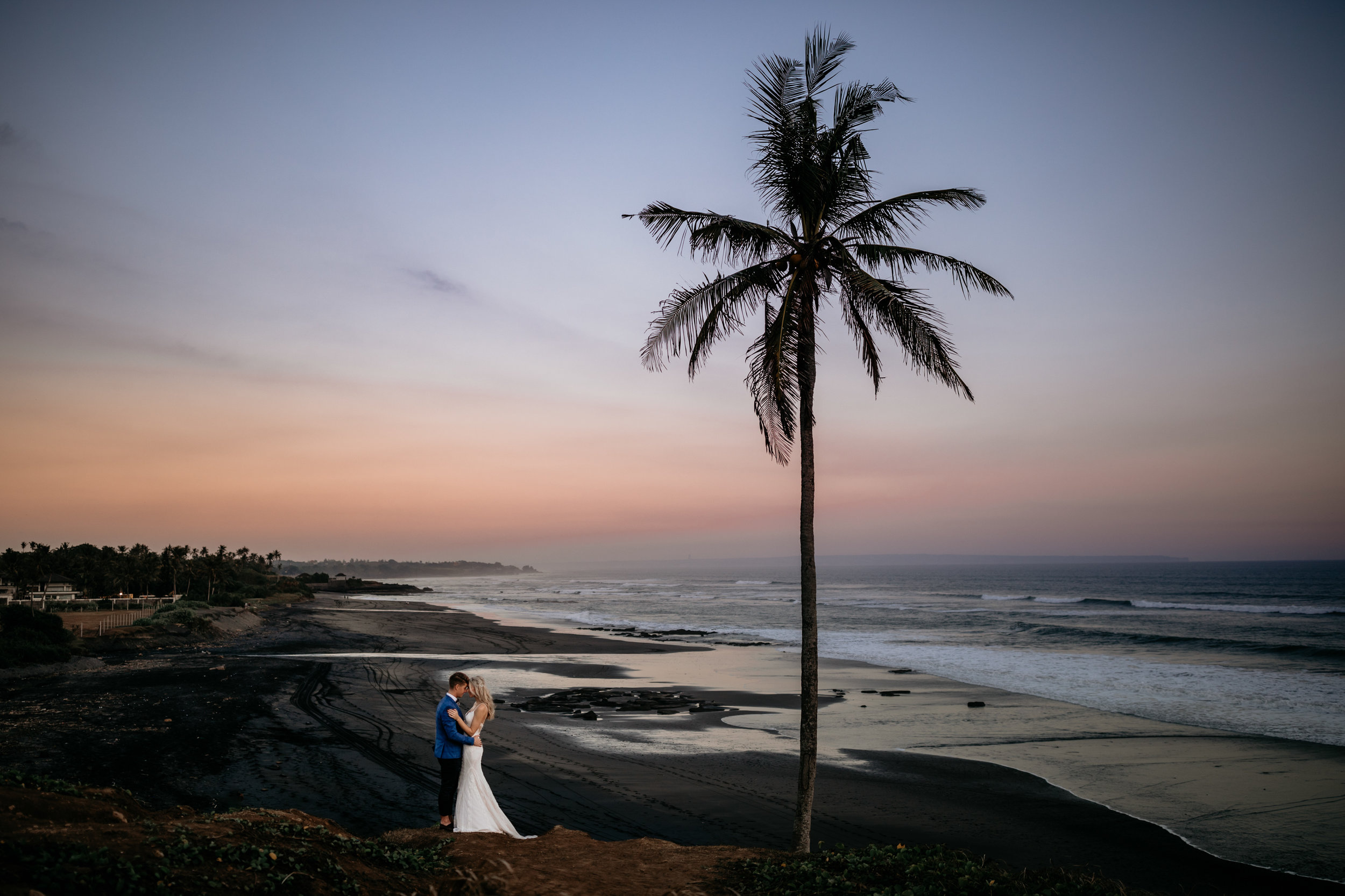 Bride and Groom share an intimate moment in Canggu, Bali.