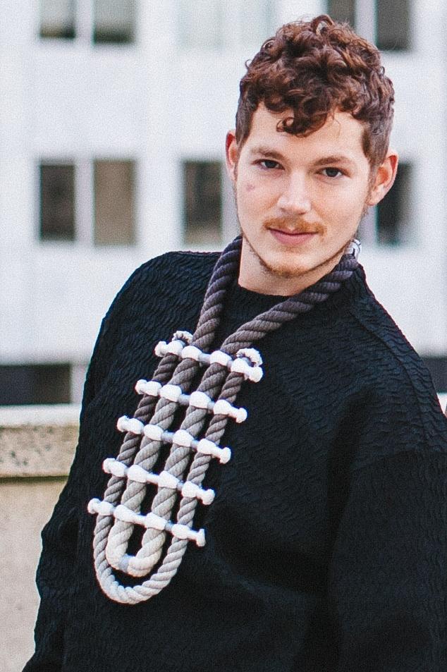 "Photographer: Cecilia Corsano    Wearing the ""Border"" necklace"