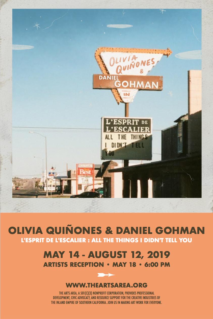 QUIÑONES / GOHMAN: May 14 - August 12, 2019