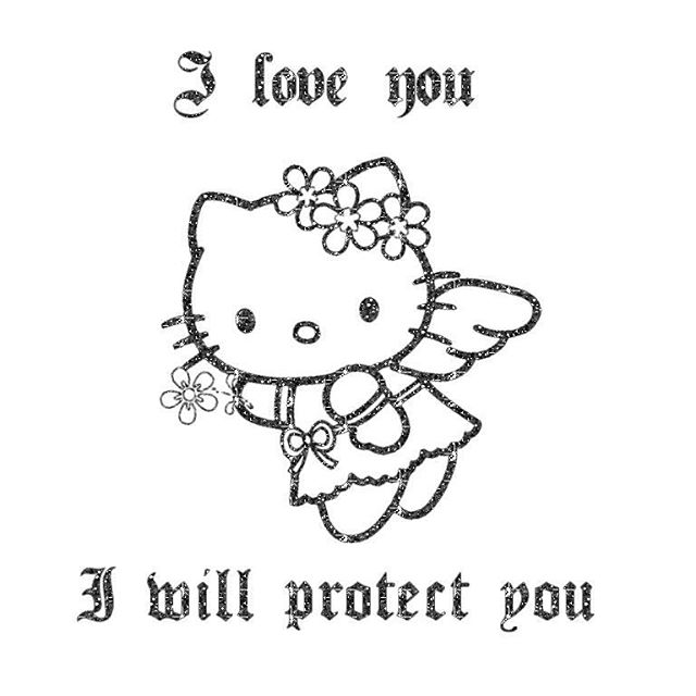 Hello kitty guardian angel on your feed to give u a kiss of protection mwa *