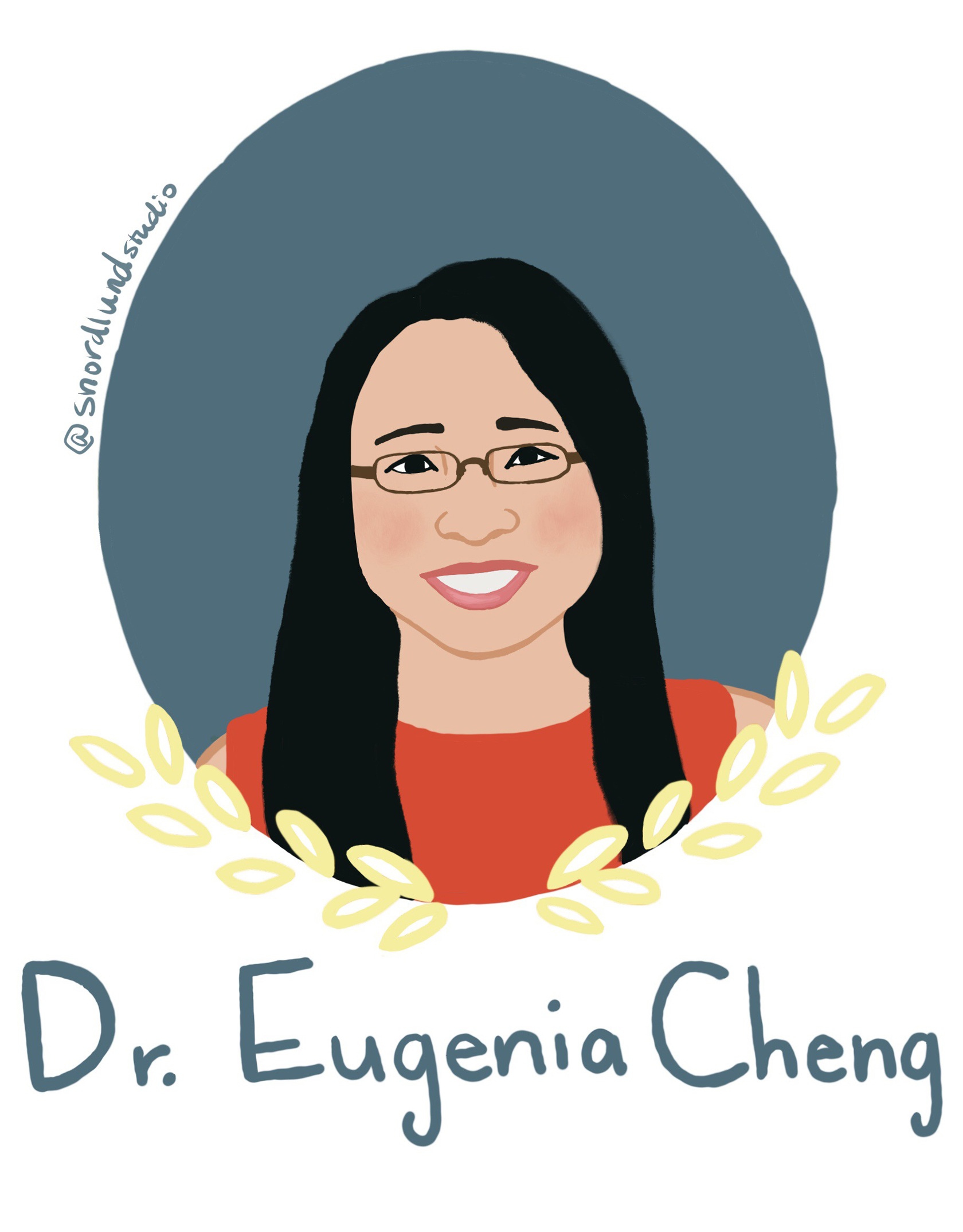 3. Dr. Eugenia Cheng - Dr. Eugenia Cheng is a mathematician, pianist, and currently a Scientist-in-Residence at the Art Institute of Chicago. Cheng also wrote the book, How to Bake Pi, which connects math and baking as a way of learning mathematic principles and methods.
