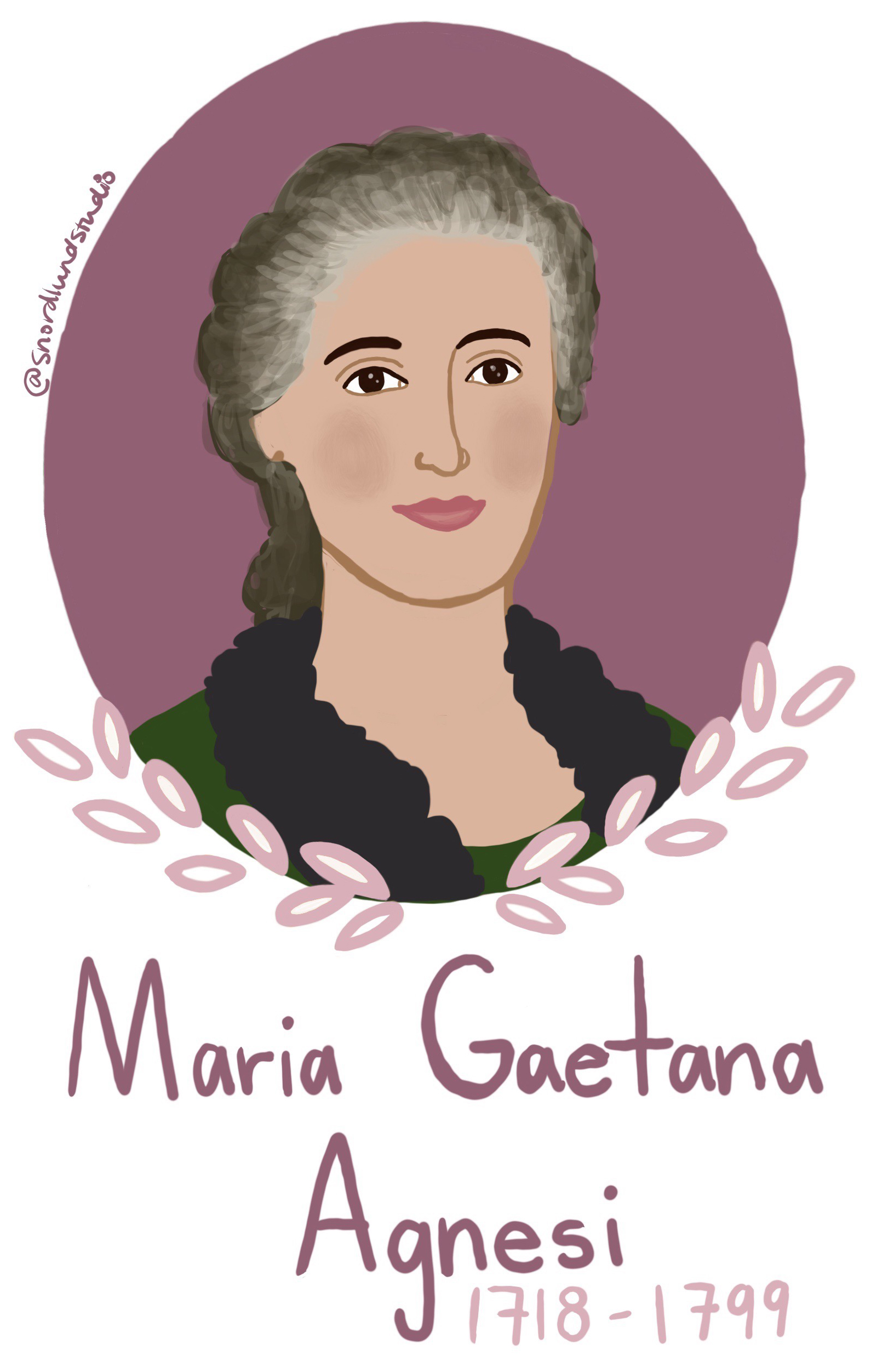 "25. Maria Gaetana Agnesi - Maria Gaetana Agnesi was a mathematician, educator, and linguist. Agnesi spoke seven languages by the time she was 11, and she taught all of her 20 younger siblings. Agnesi is considered the first woman to receive a reputation in mathematics. She wrote a mathematics handbook, developed a mathematic concept now called ""Witch of Agnesi"", and became the first female mathematics professor at a university. Agnesi was a strong advocate for women's right to be educated."