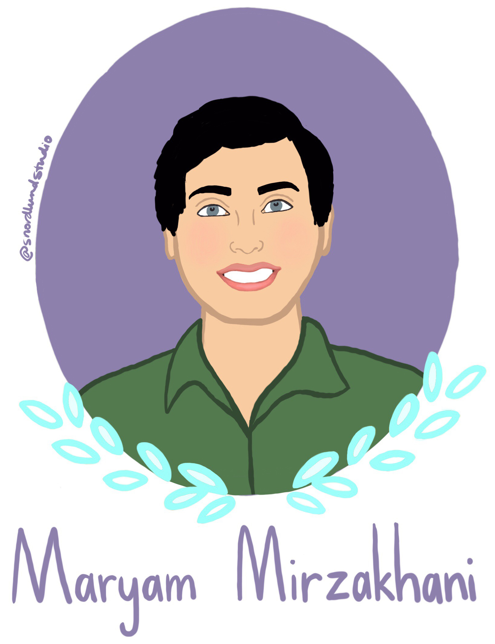 "34. Maryam Mirzakhani - Maryam Mirzakhani (1977-2017) was a world-renowned mathematician and professor. She is the only woman to ever receive a Fields Medal. Mirzakhani believed in ""crossing the imaginary boundaries people set up between different fields."" Her mathematic process involved doodling. She stated, ""the process of drawing something helps you somehow stay connected."""