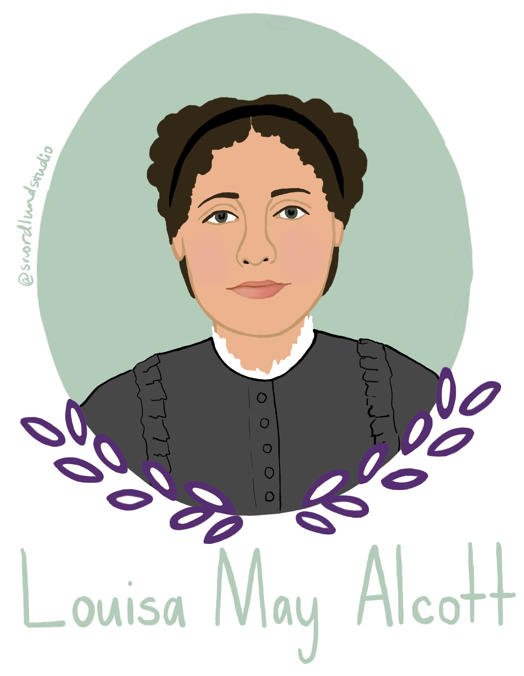 44. Louisa May Alcott - Louisa May Alcott (1832-1888) was a writer, teacher, seamstress, and nurse. She is most well-known for writing Little Women.