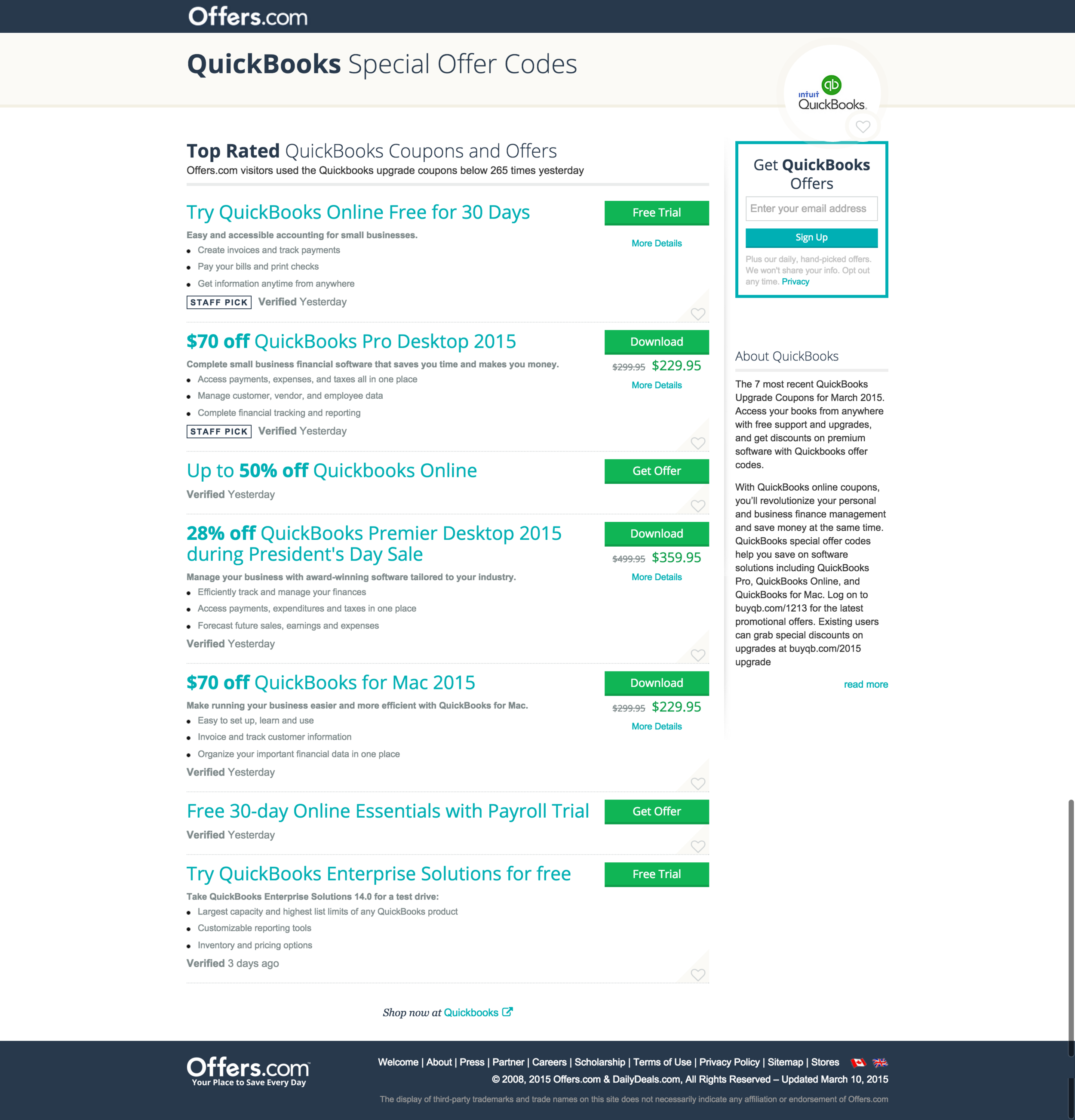 Up to  70 off QuickBooks Special Offer Code   Offers.com  Mar. 2015 .png