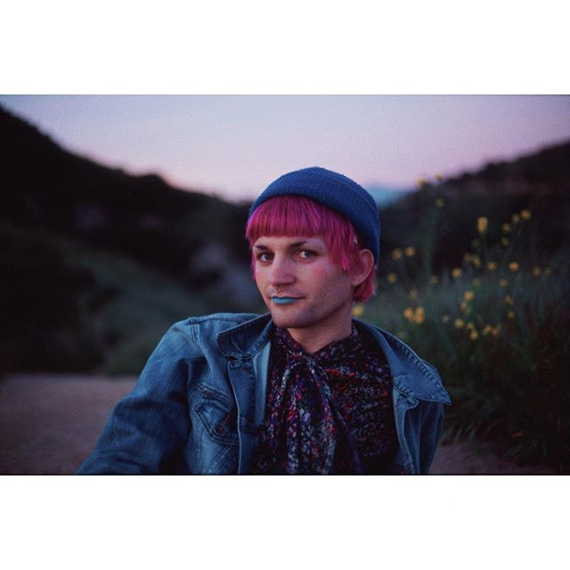 spring flowers in LA w/ 📷: @inbetween_queen ✨ #fuji #velvia100 #35mm ✨ . . . . . . . . . . #queerart #shootfilm #nonbinary #filmisnotdead #enby #analog #queer
