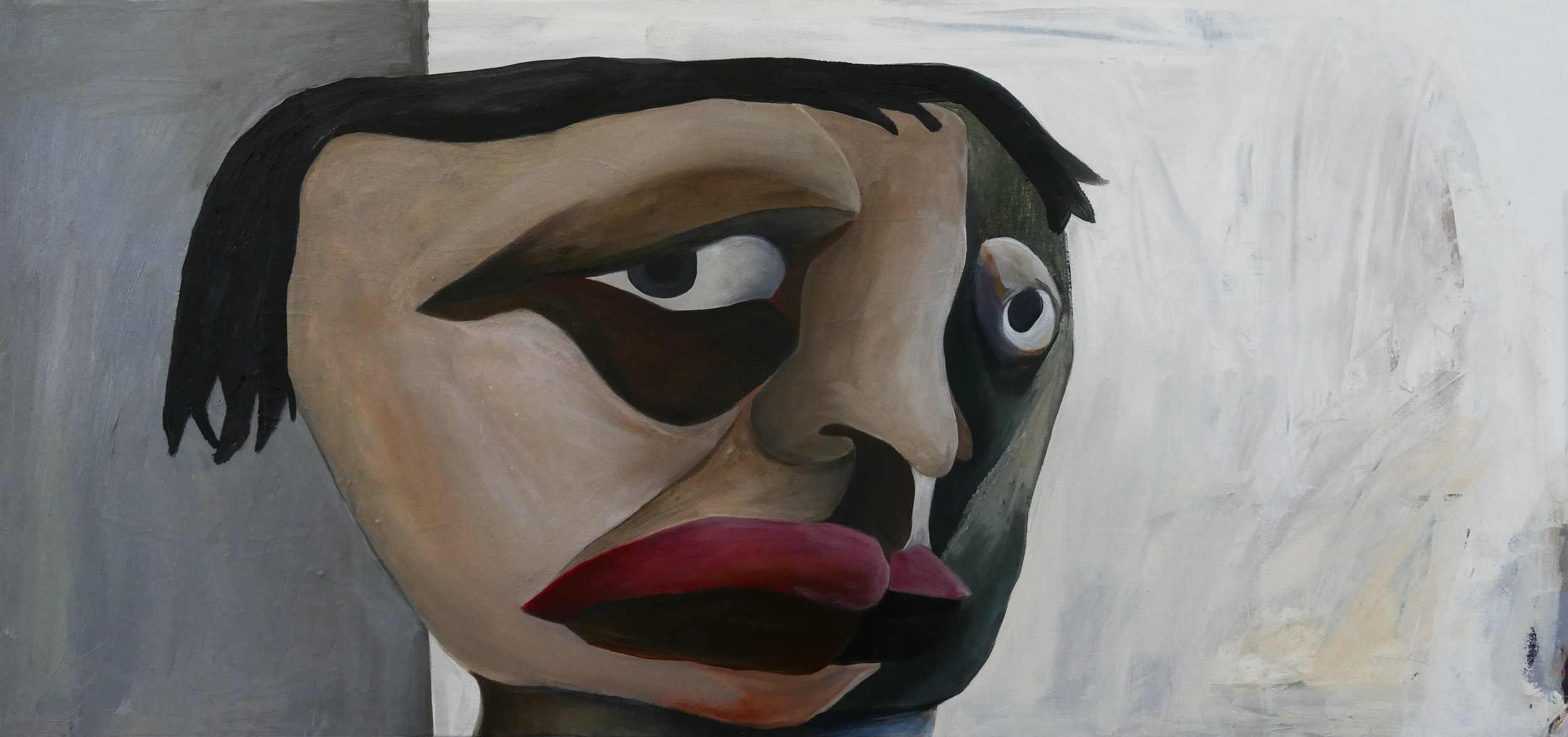Oil on canvas, 40x19 in., 2019.